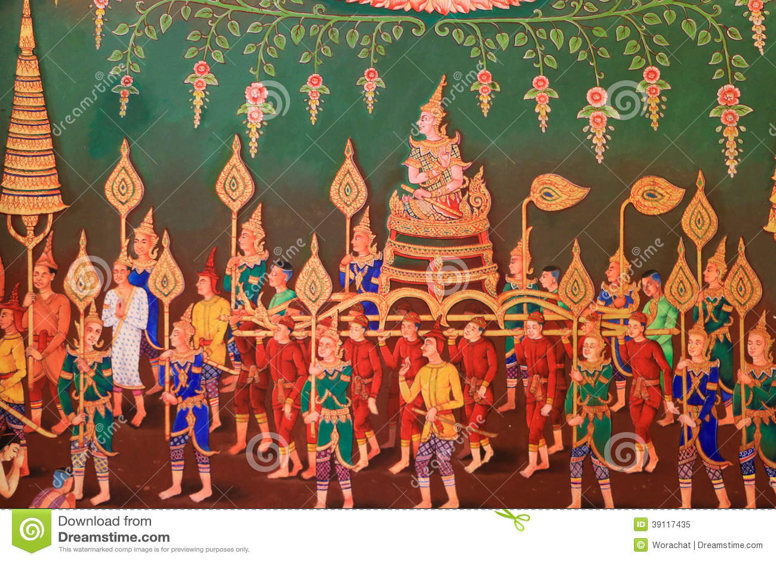Traditioneel Thais art.
