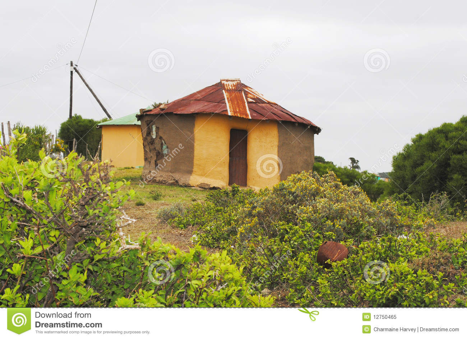 Traditionele Afrikaanse hut