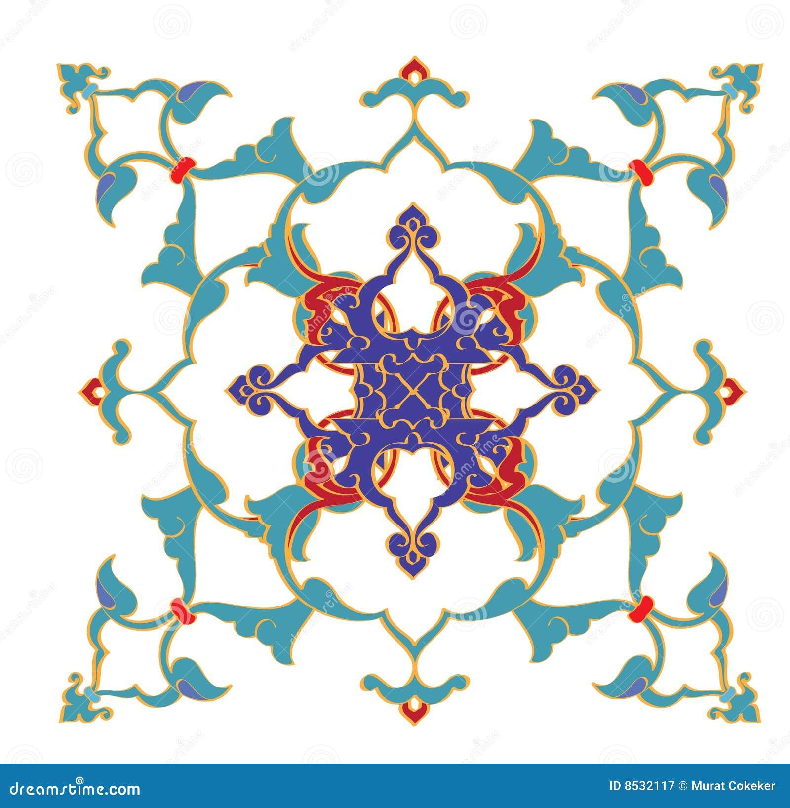 Traditionele antieke ottoman turkse tegel illustrat vector illustratie afbeelding 8532117 - Pouf eigentijds ontwerp ...