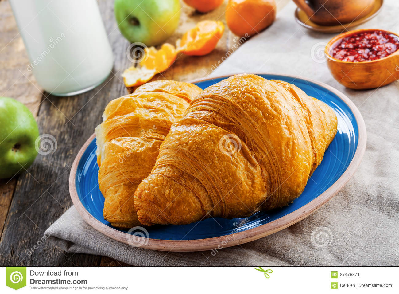Traditionele Franse croissants
