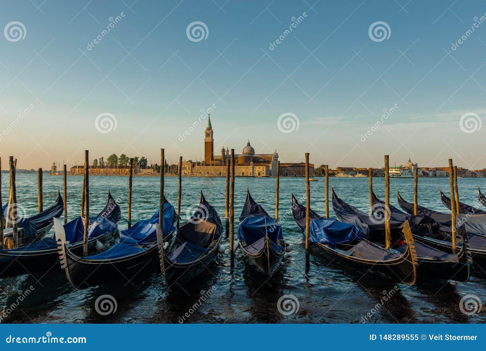 Traditionele Gondels in Veneti?