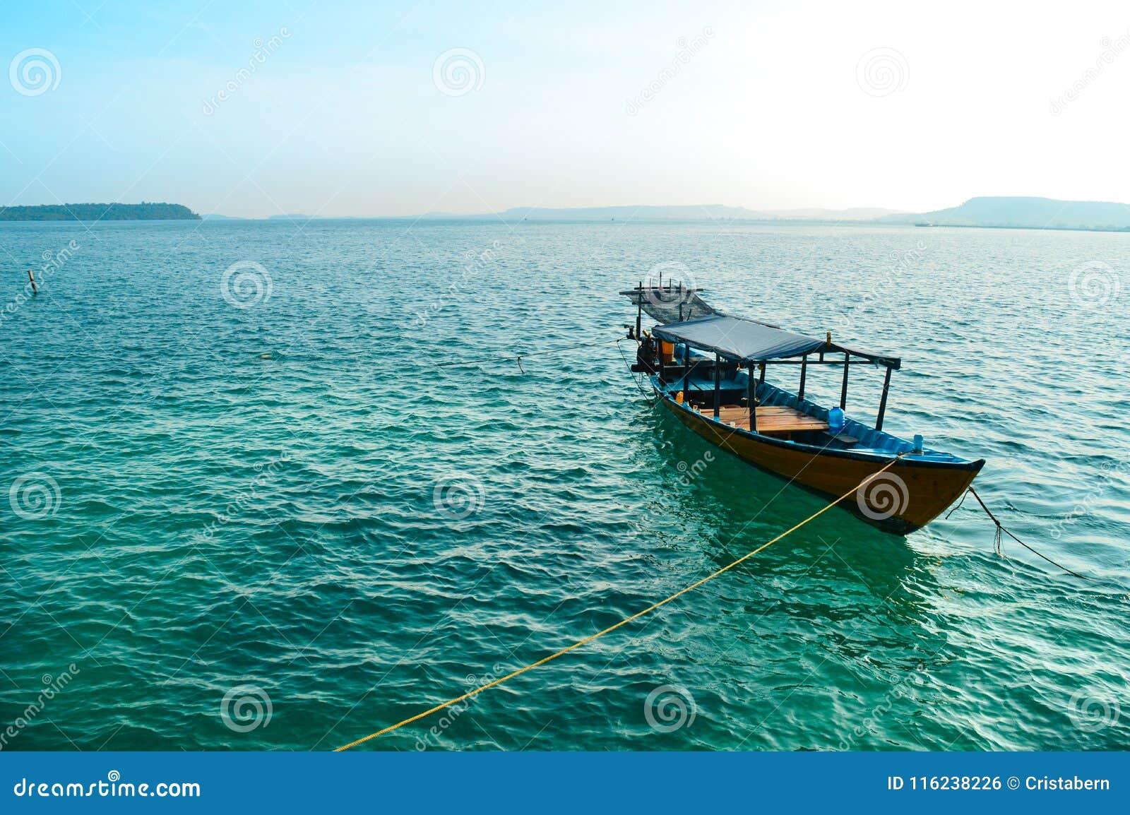Traditionele het duiken boot