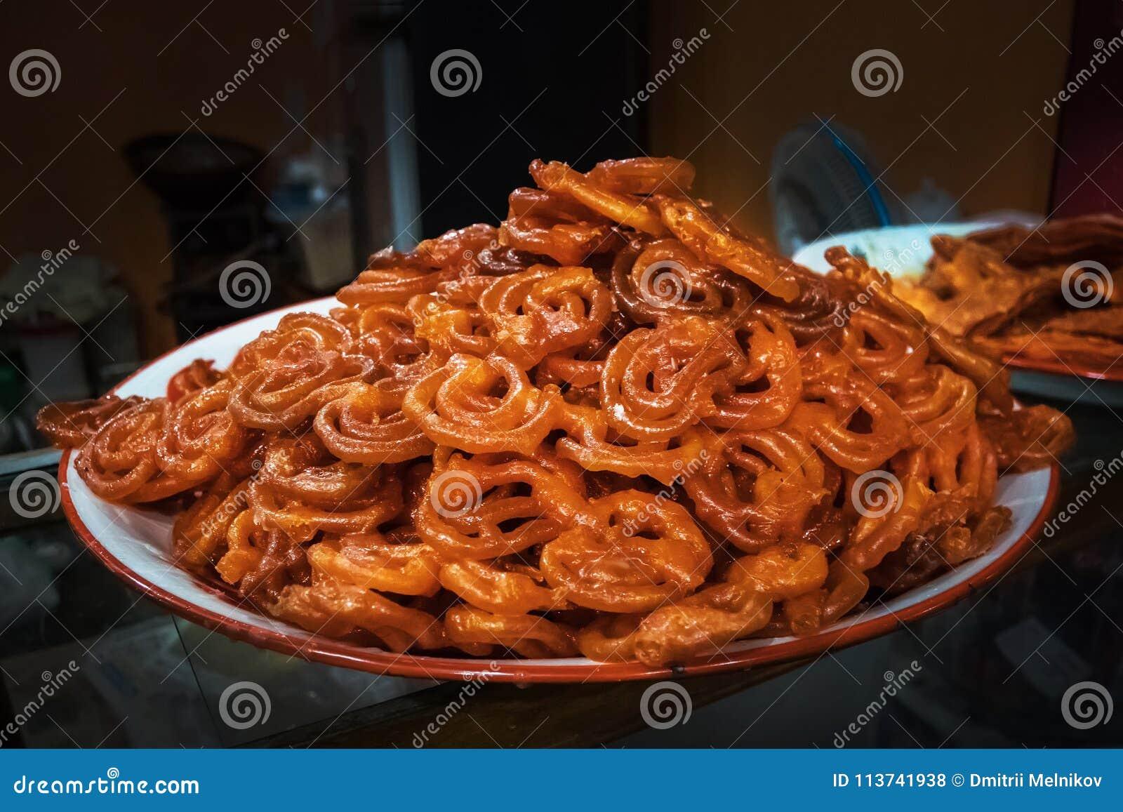 Traditionele Indische snackchakli, chakali, murukku