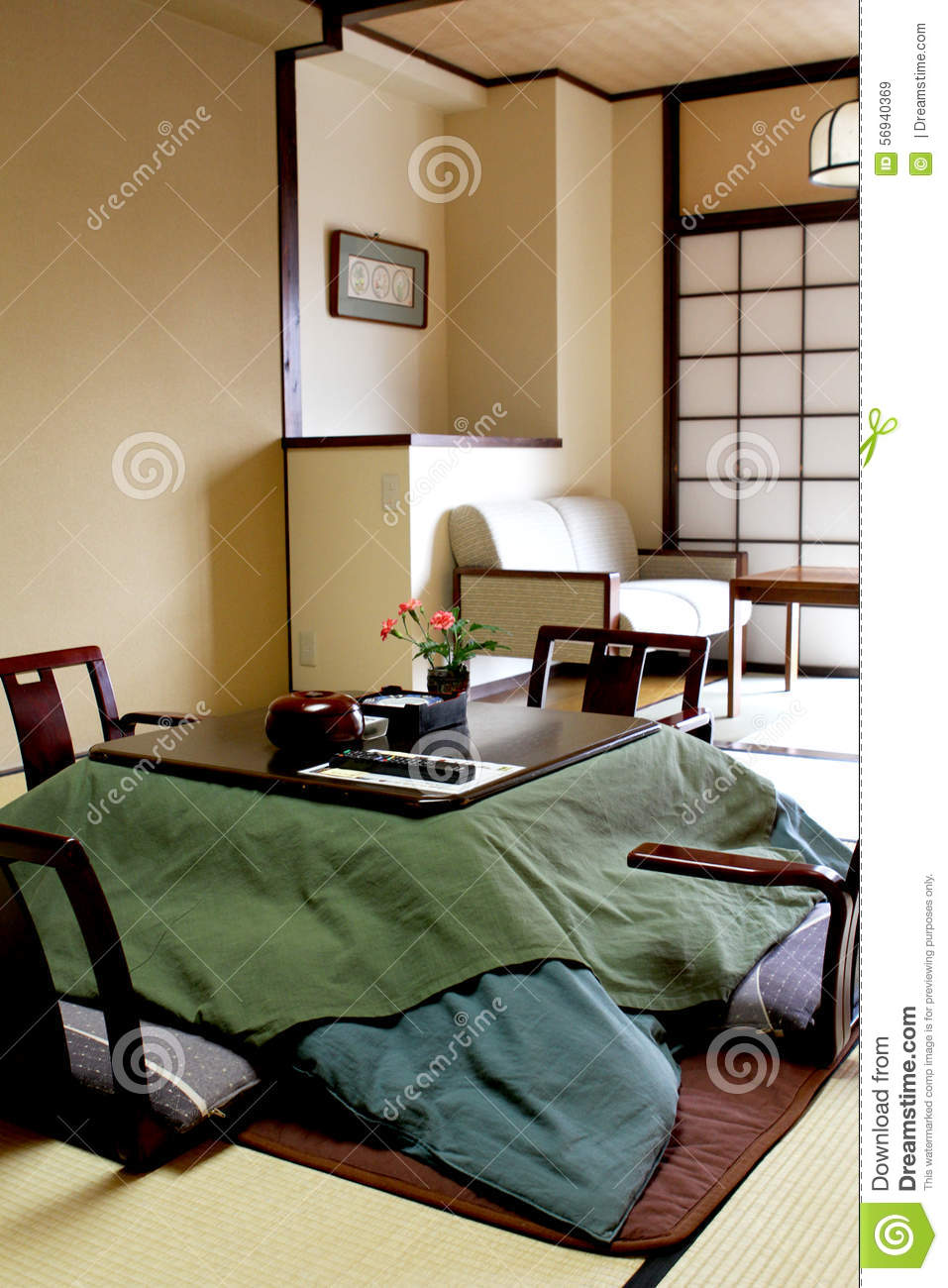 Japanse Slaapkamer Stock Photos - Royalty Free Pictures