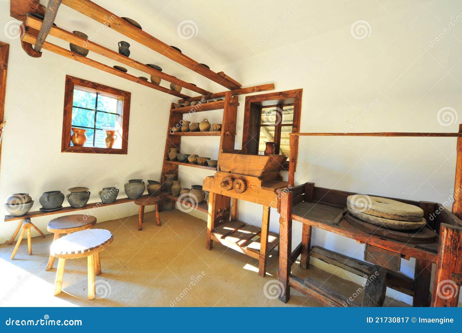 Traditionele landelijke aardewerkworkshop