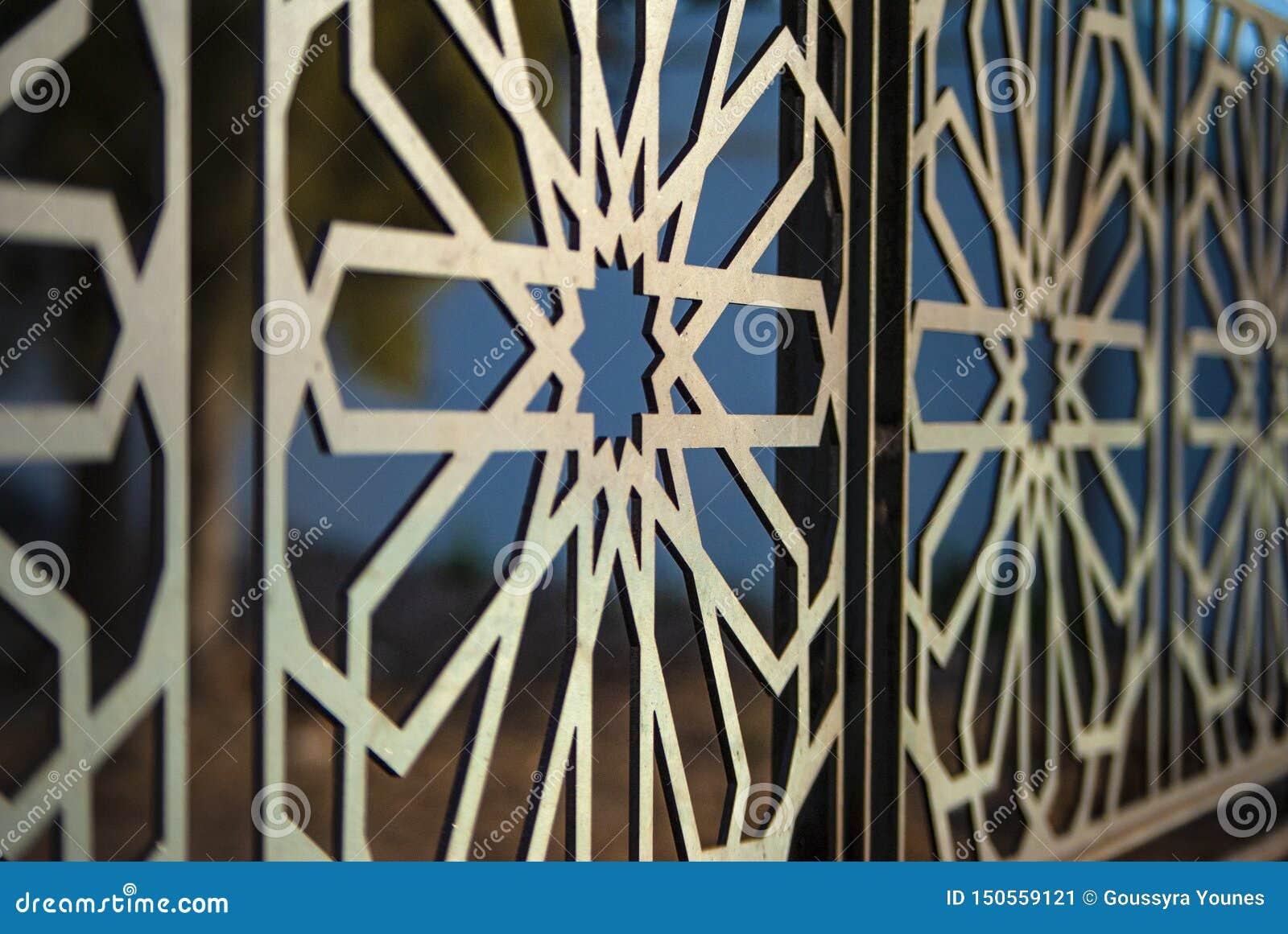Traditionele Mozaïek van Morrocan van het kunst het architecturale patroon