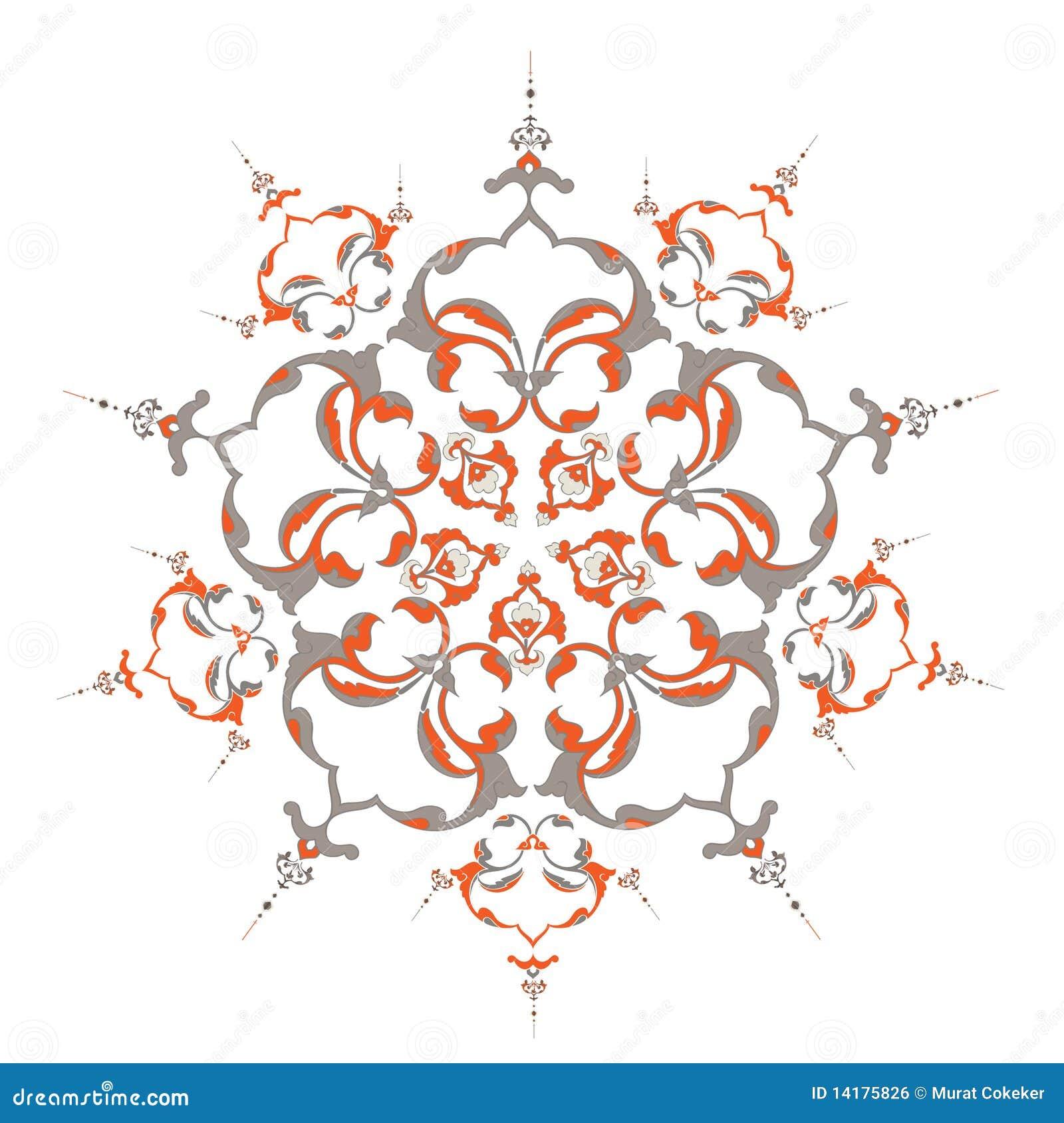 Traditionele ottoman turkse tegelillustratie royalty vrije stock afbeelding afbeelding 14175826 - Pouf eigentijds ontwerp ...