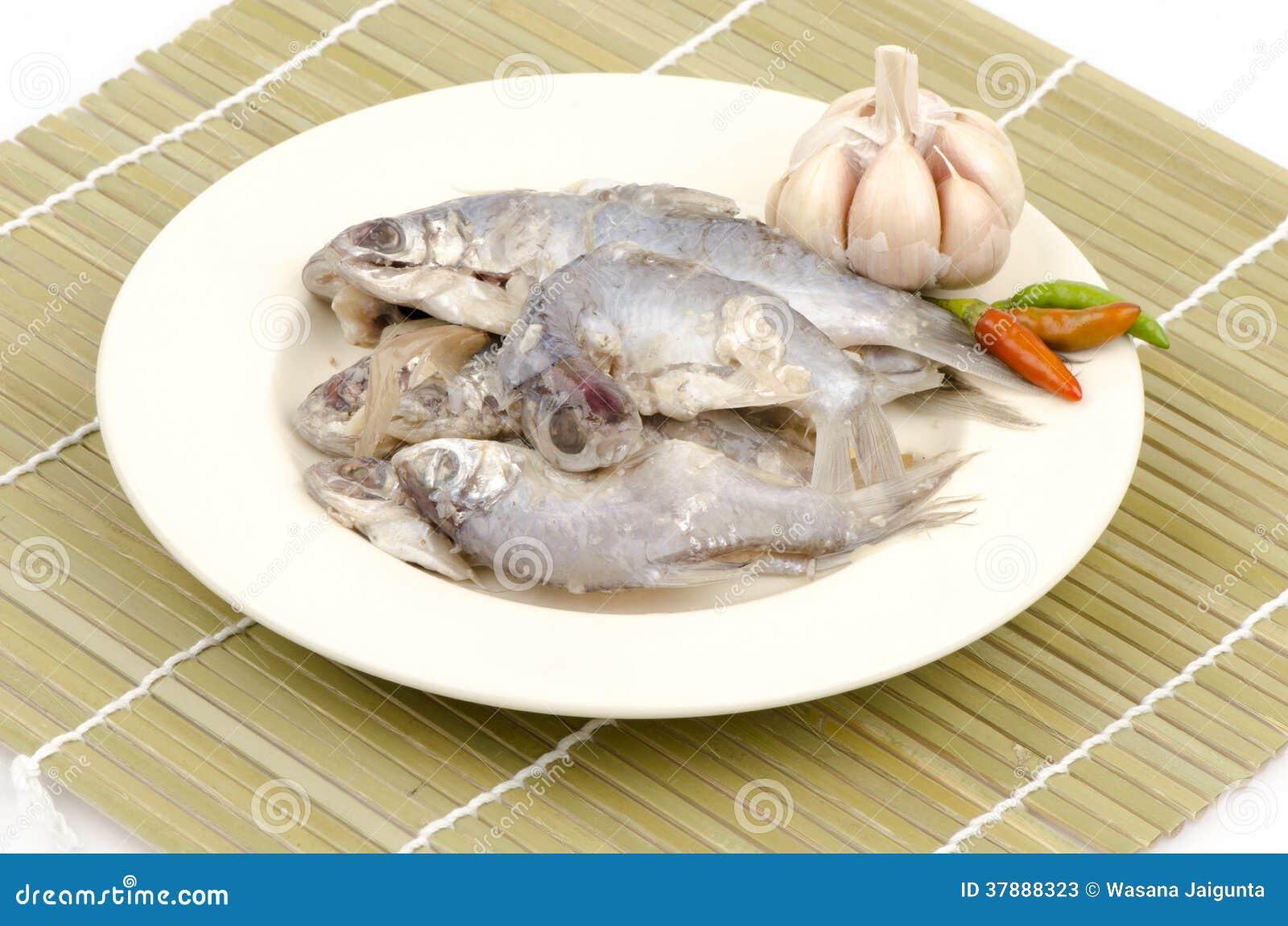 Traditionele Thaise stijl ruwe bewaarde vissen (de Thaise naam is pla-Ra)