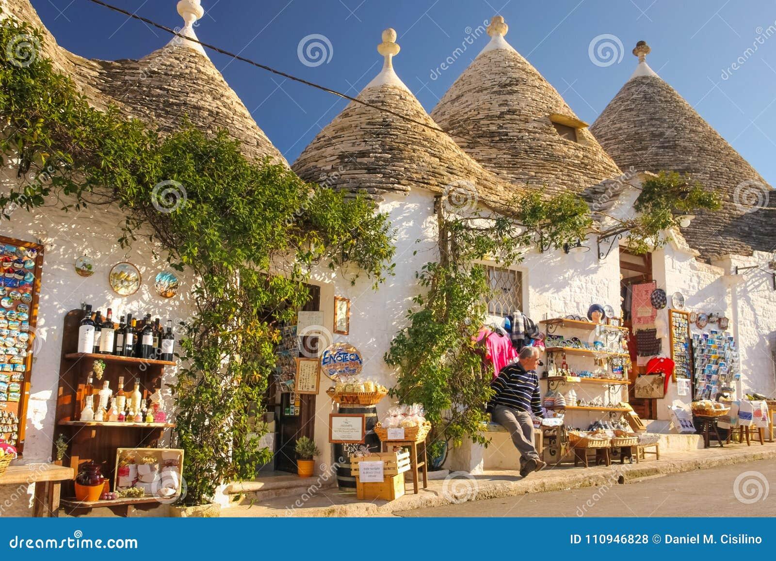 Traditionele Trulli Alberobello Apulia Italië