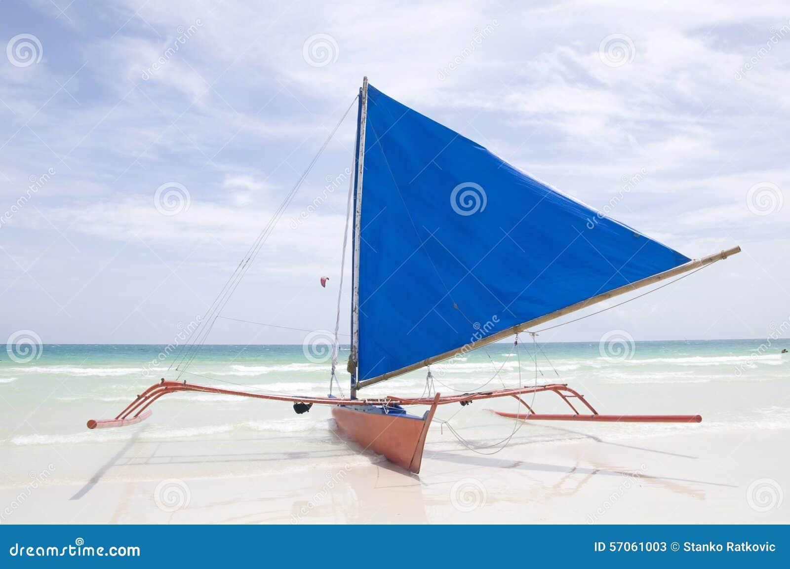 Traditionele Zeilboot op Boracay