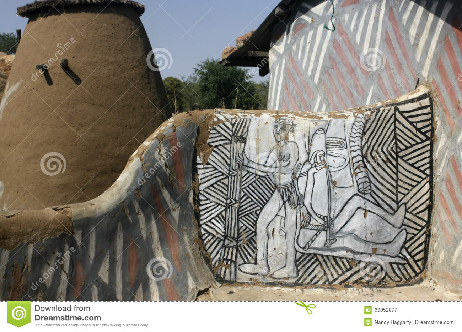 Traditionell afrikansk familjsammansättning
