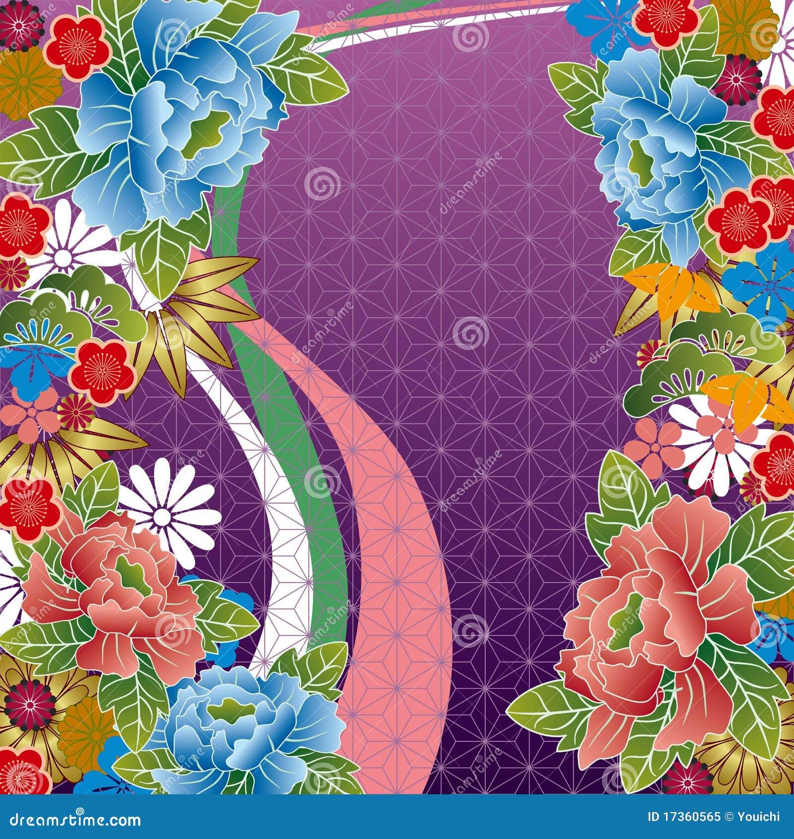 Traditionell blom- japansk modell