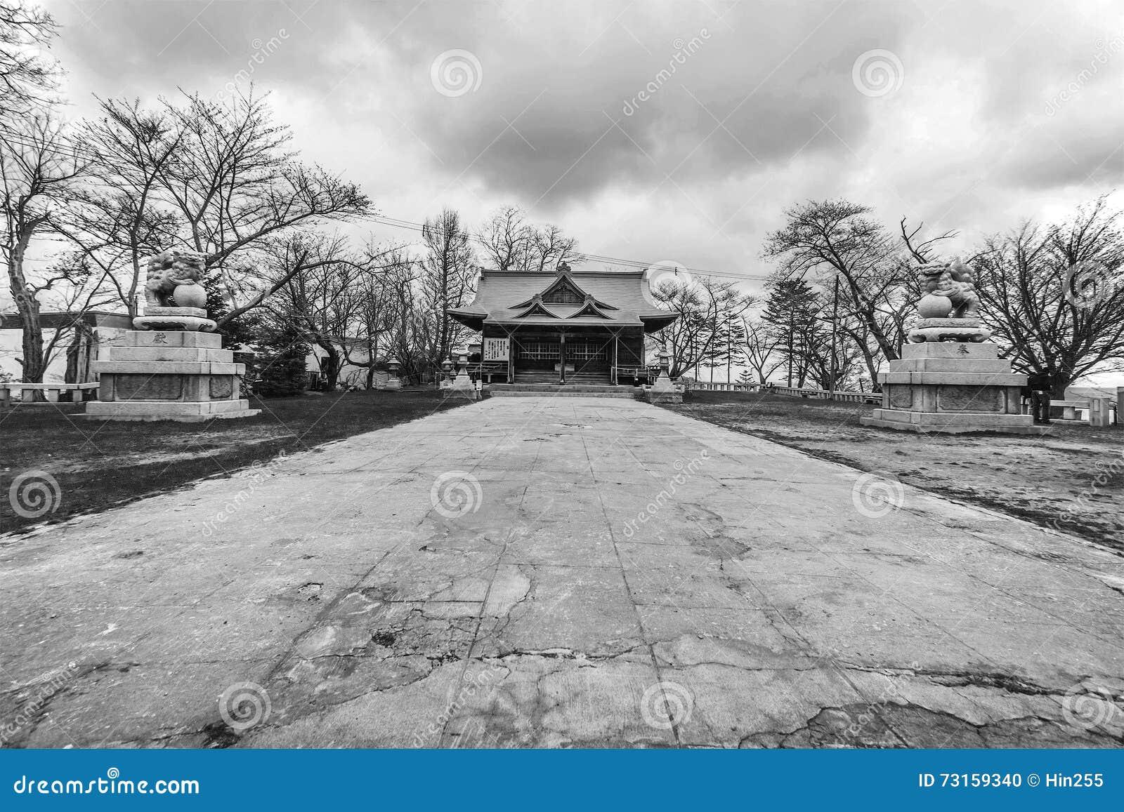 Traditionell kultur för Japan tempel