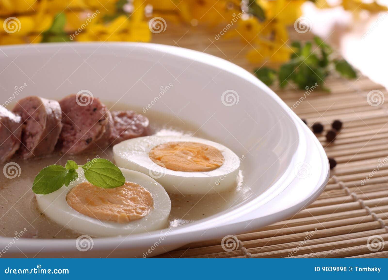 Traditionell polerad soup