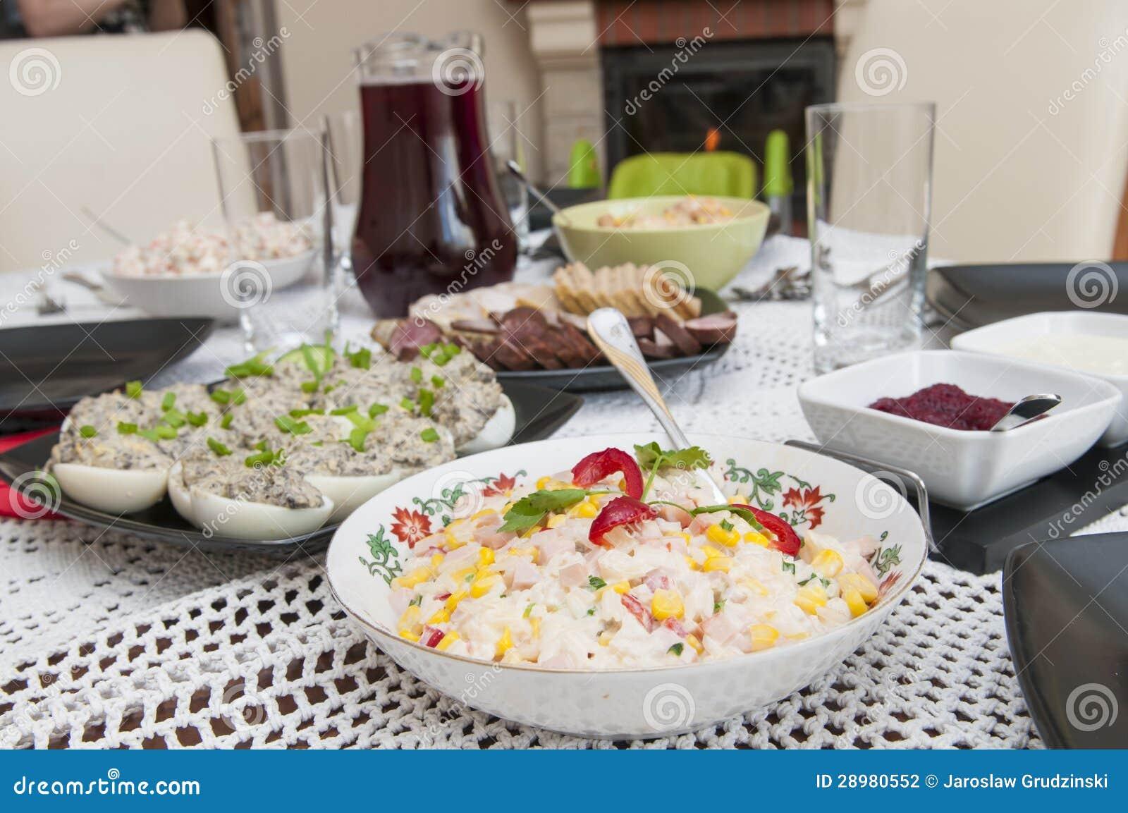 Traditionell polsk påskmat