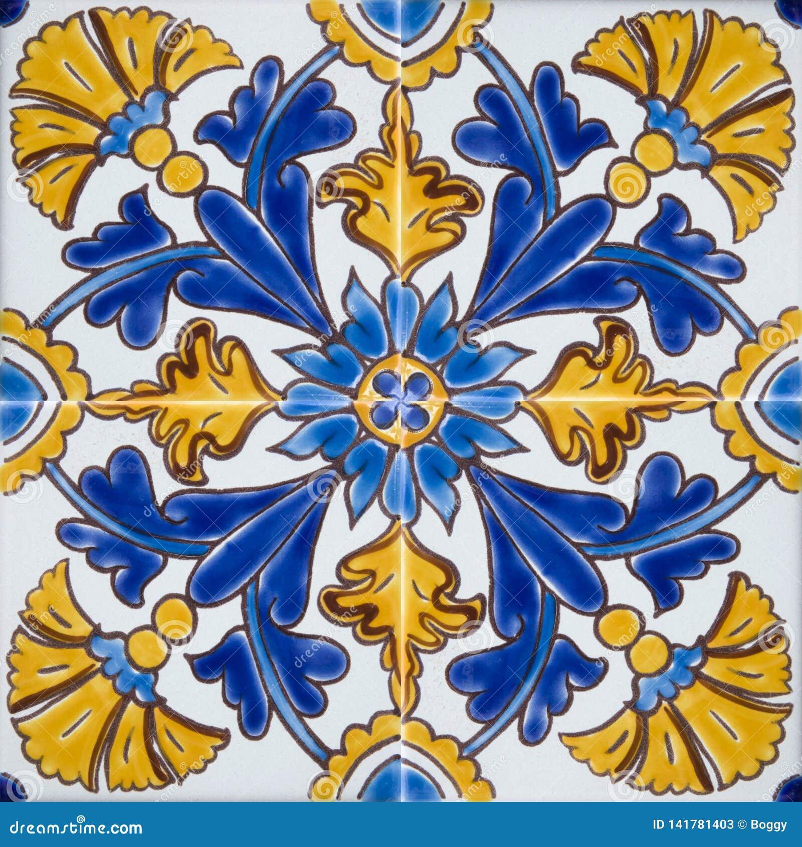 Traditionella färgrika tegelplattor från Malta