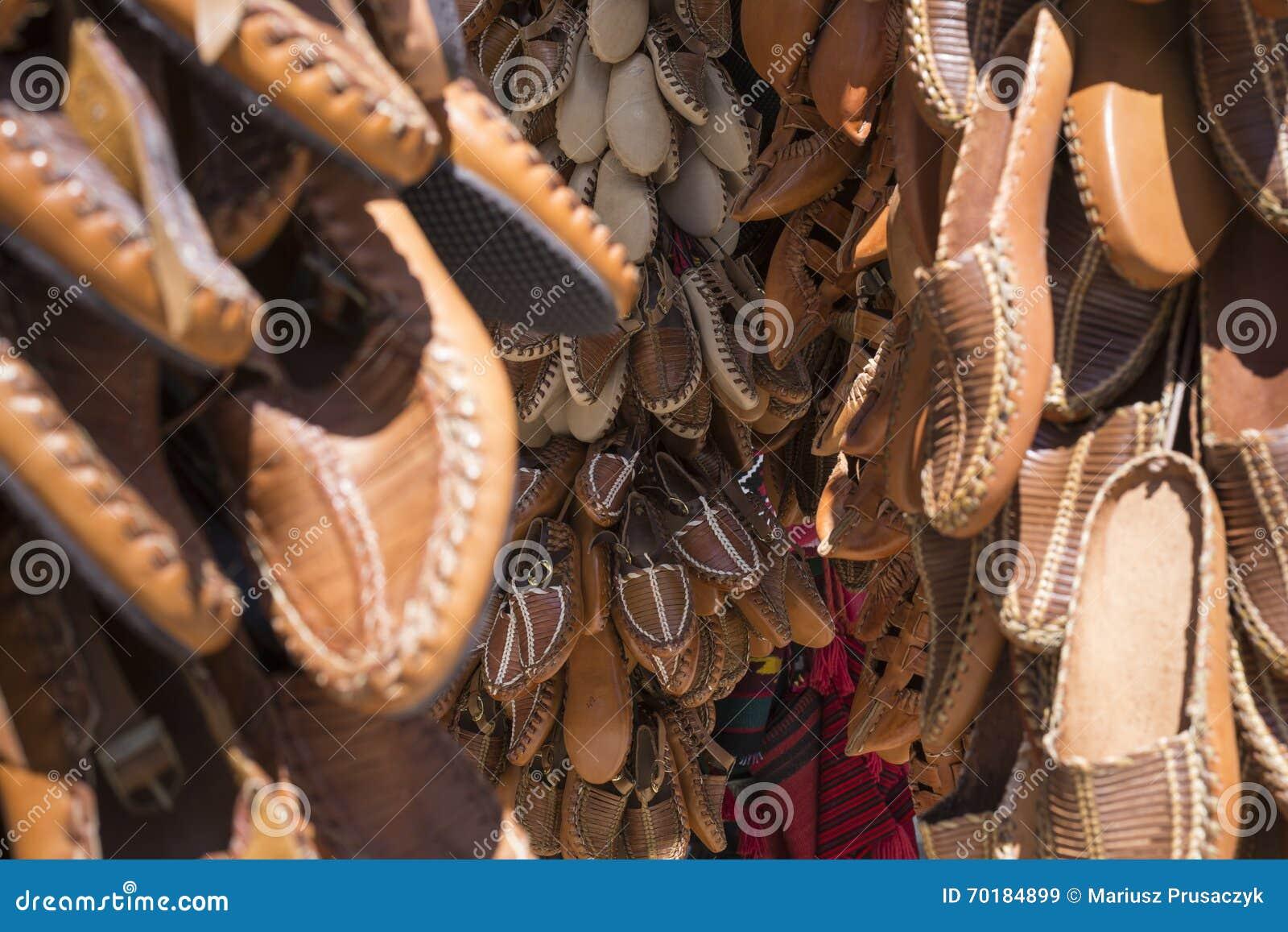 Traditionella läderskor, Skopje, Makedonien
