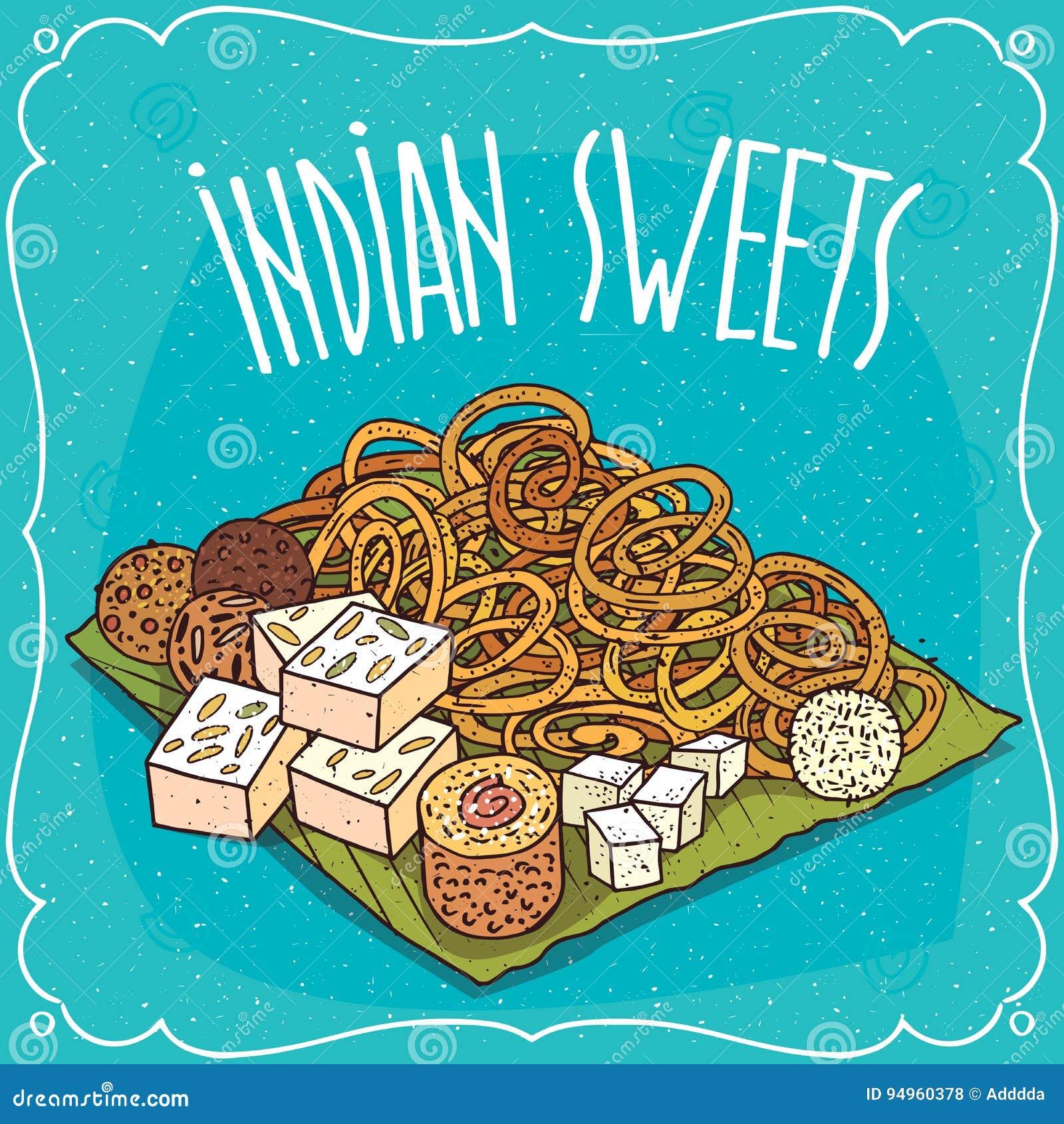 Traditionella populära sötsaker av indisk kokkonst