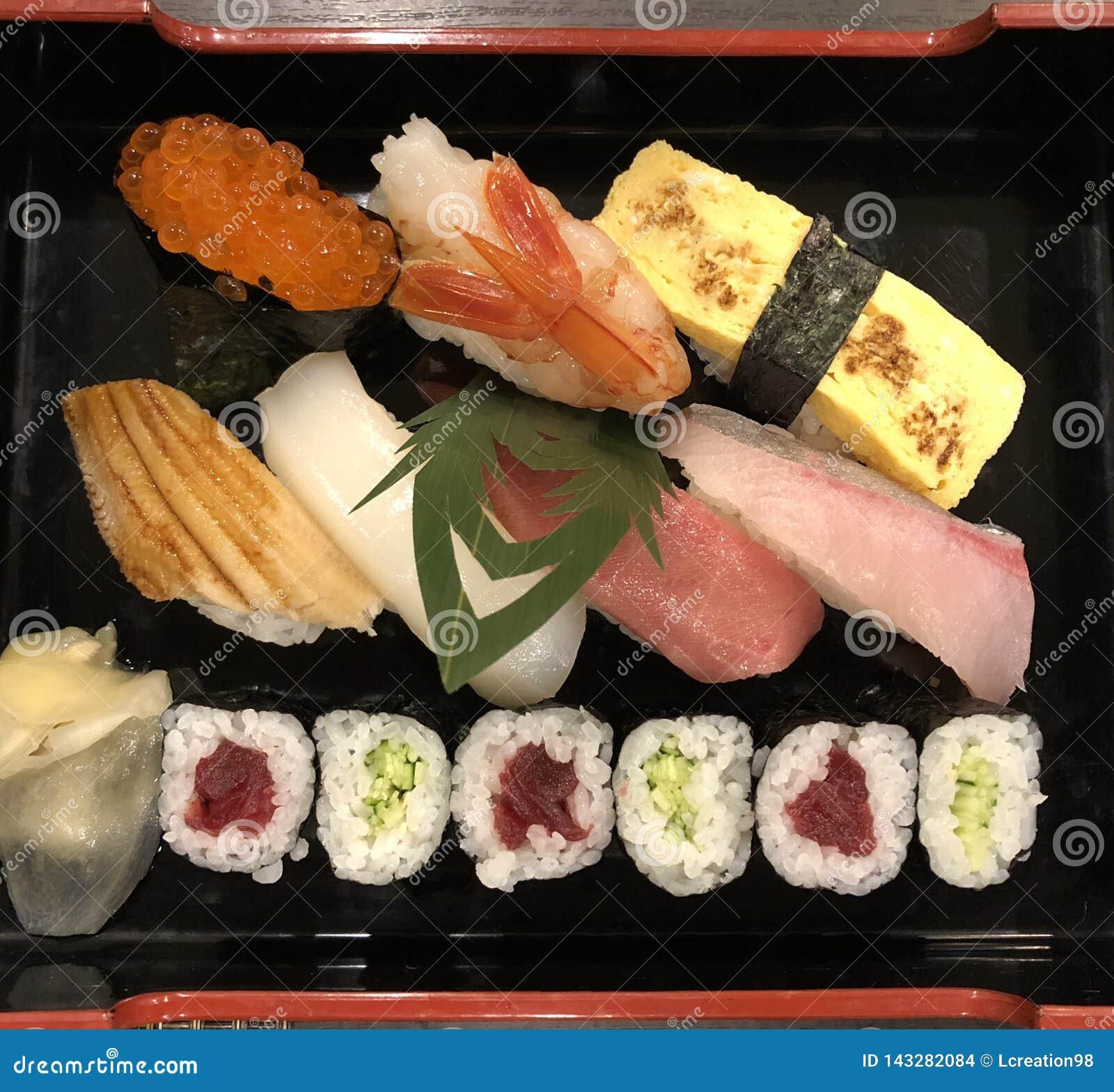 Traditionella sushi