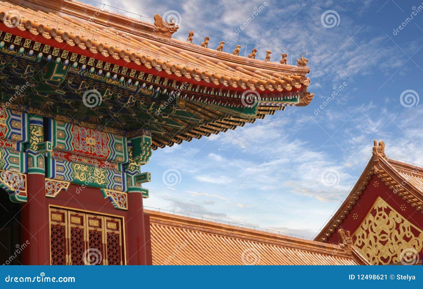 Traditionelle asiatische chinesische Architektur