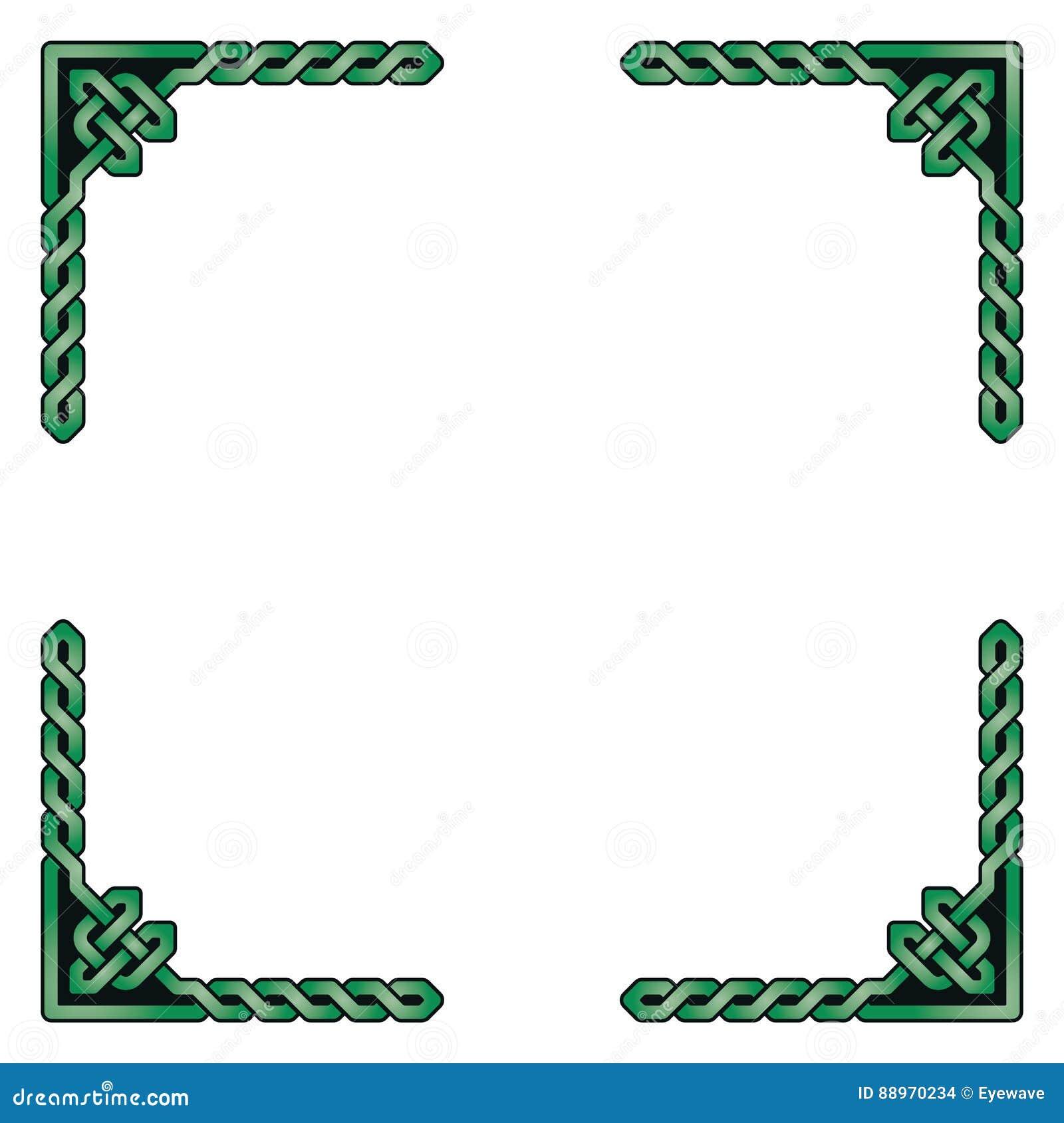 Traditionelle Dekorative Keltische Rahmen-Vektor-Illustration Vektor ...