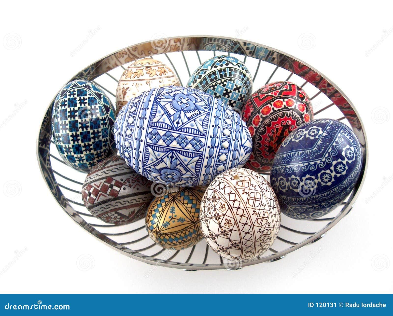 Traditionelle gemalte Eier