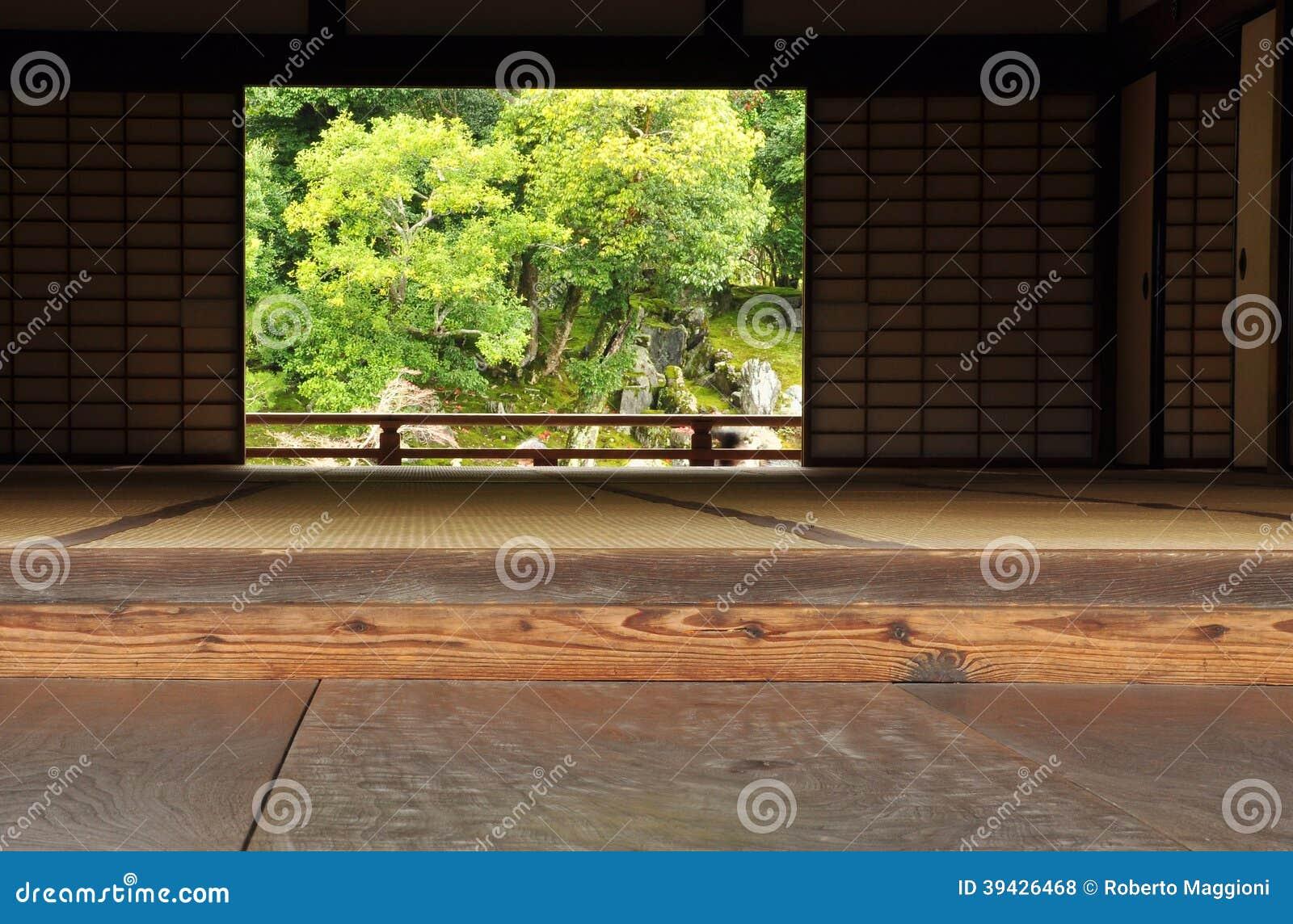 Traditionelle Japanische Architektur Und Garten Stockfoto