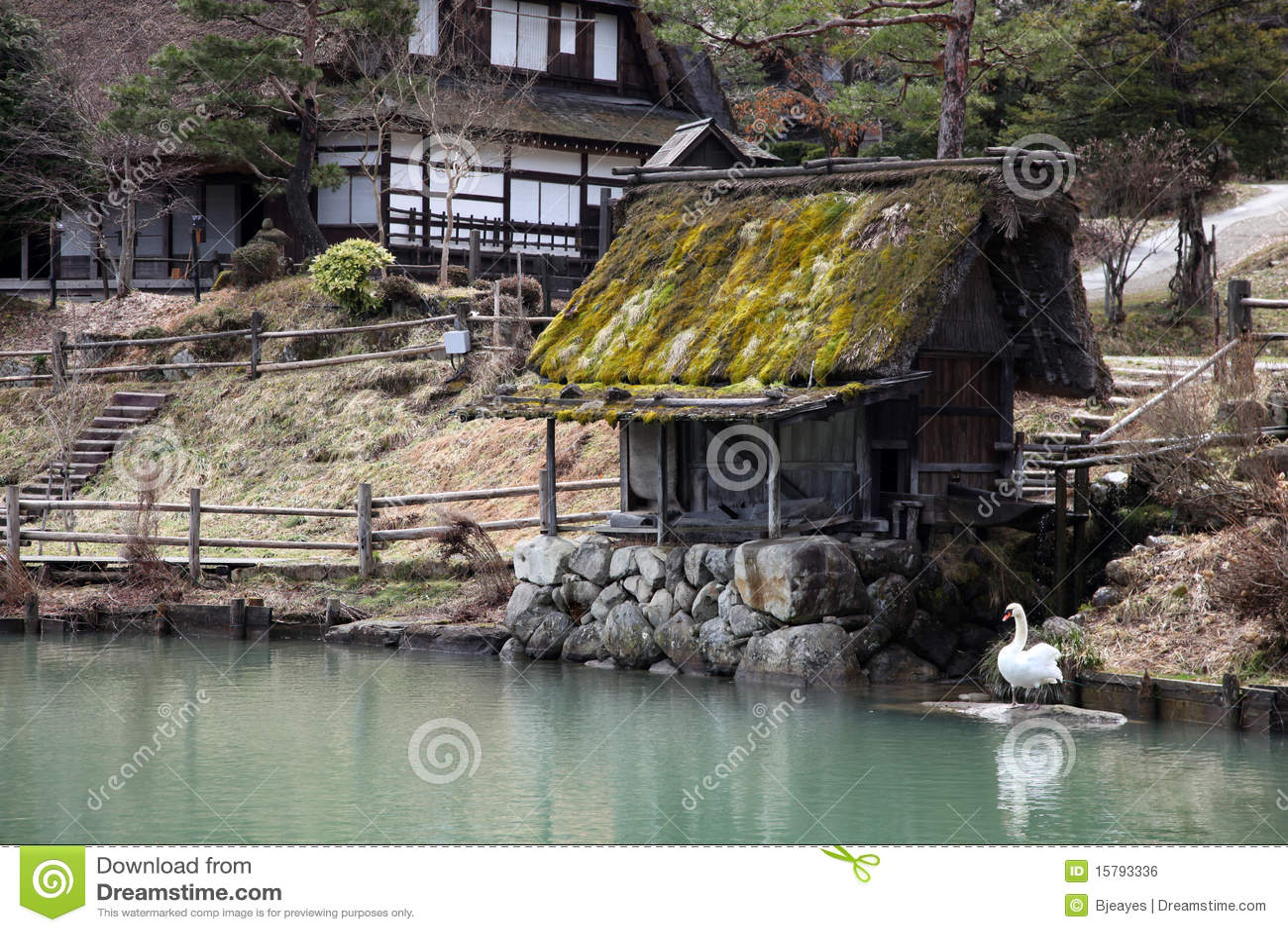 Traditionelle japanische geb ude lizenzfreies stockbild for Traditionelle japanische architektur