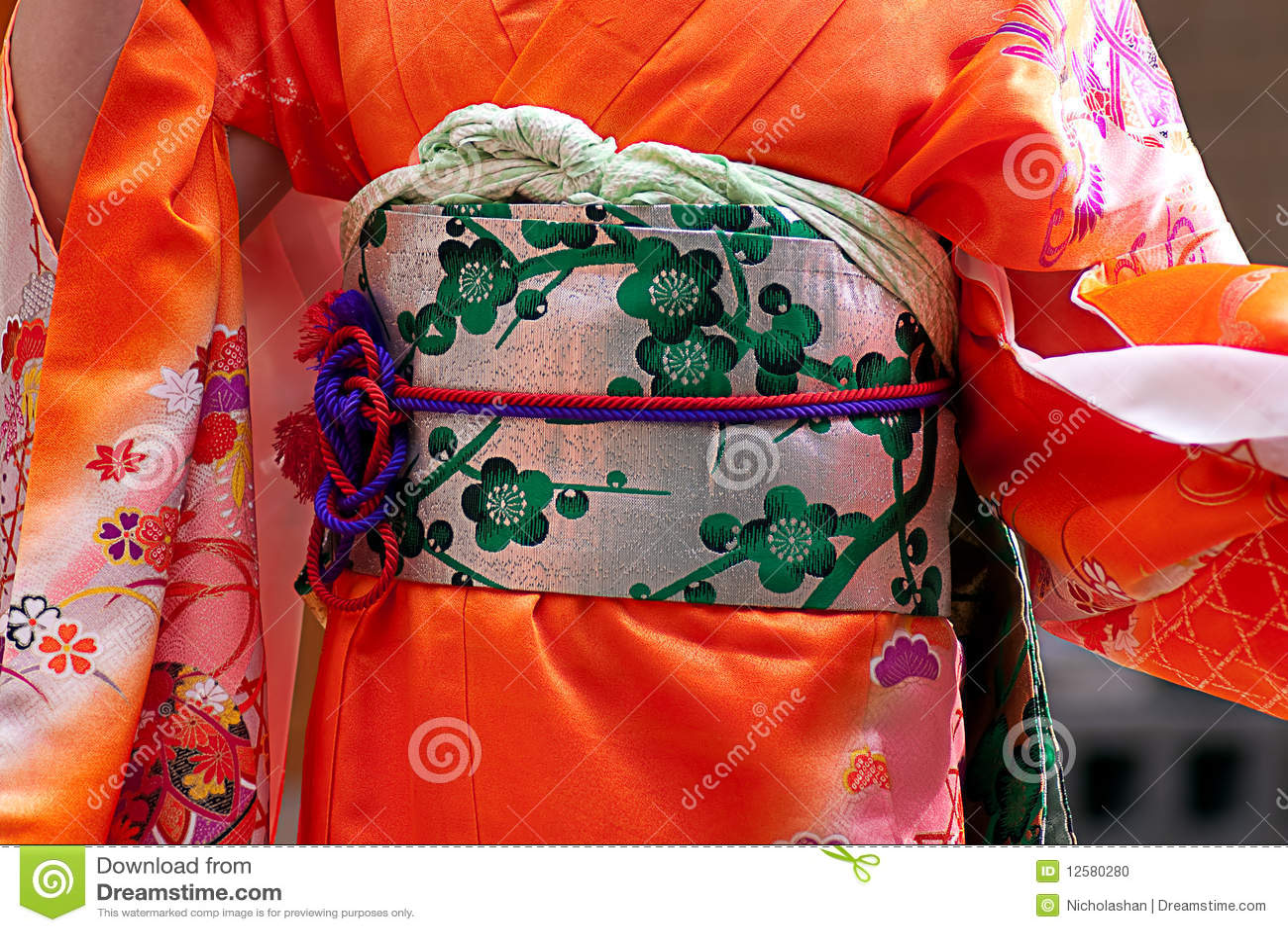 Traditionelle Japanische Kleidung Stockfoto Bild 12580280
