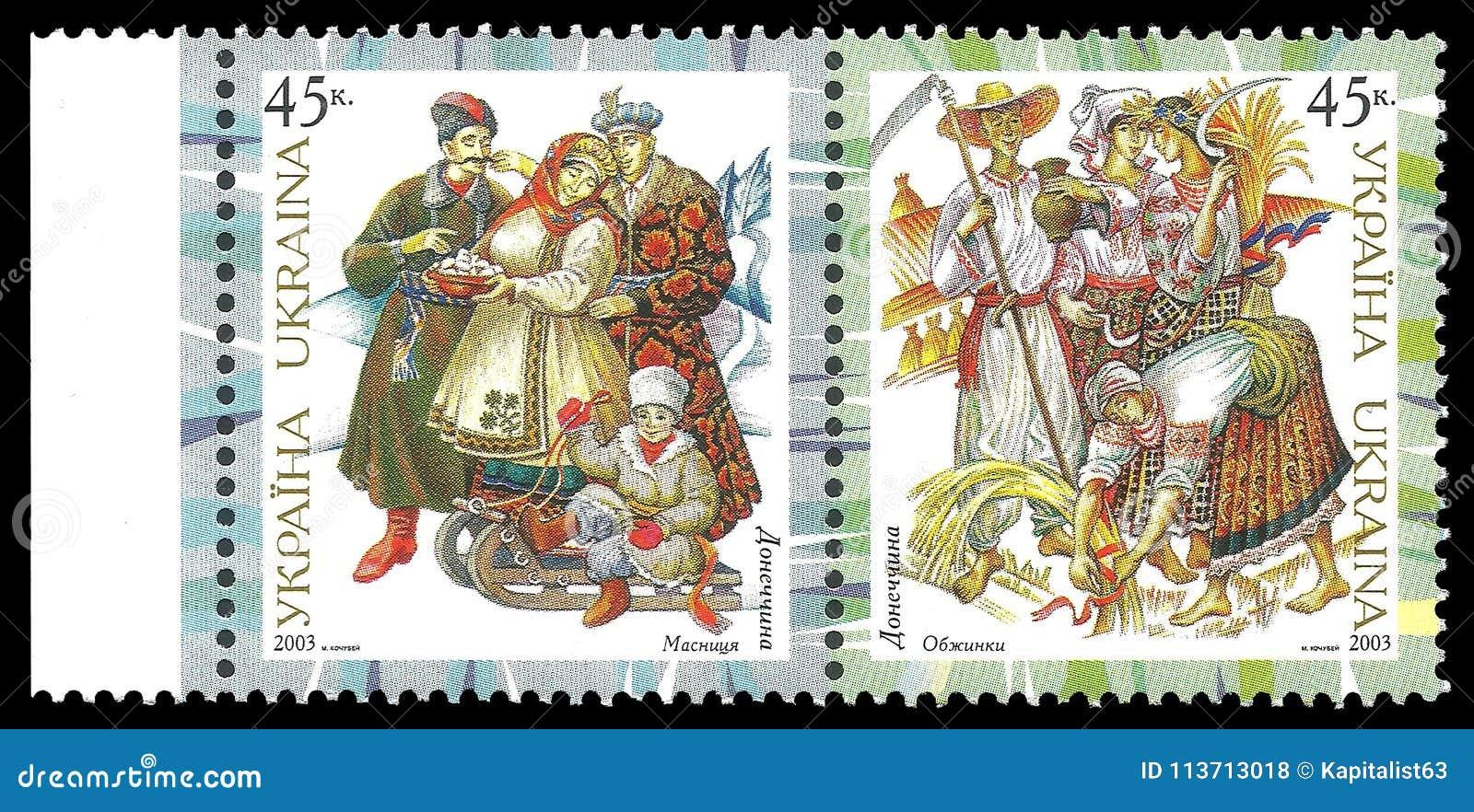 Traditionelle Kostüme Donetsks