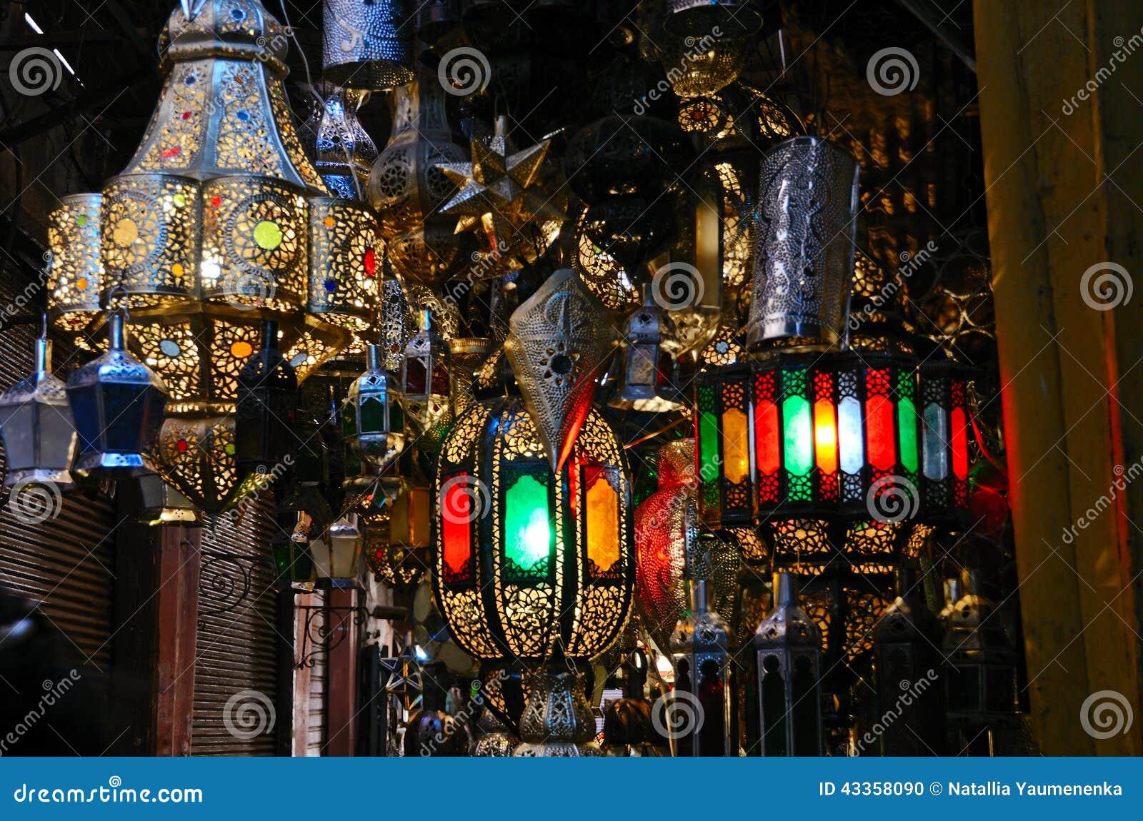 Traditionelle Marokkanische Lampen Stockfoto - Bild: 43358090