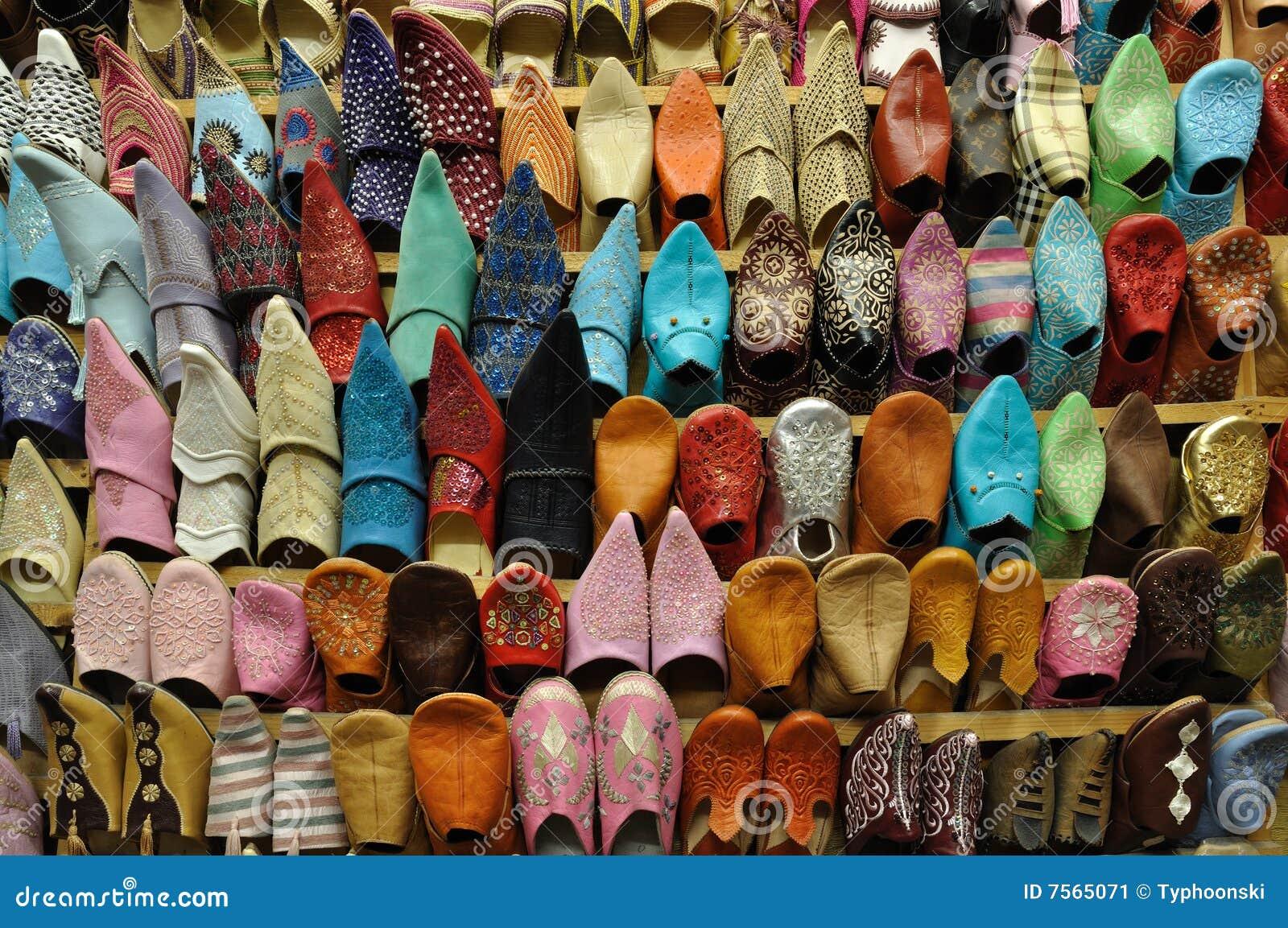 Traditionelle Orientalische Schuhe Stockbild Bild von