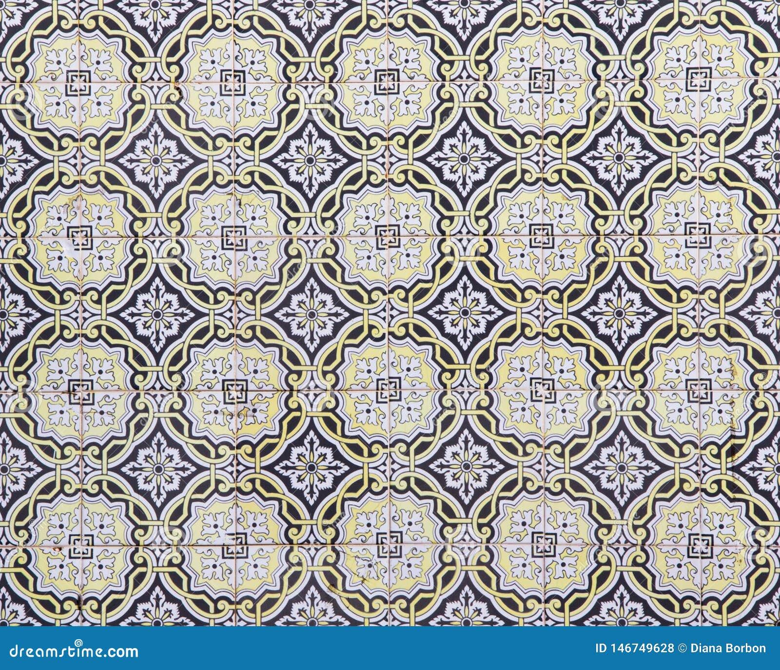 Traditionelle portugiesische Keramikfliesen, Muster