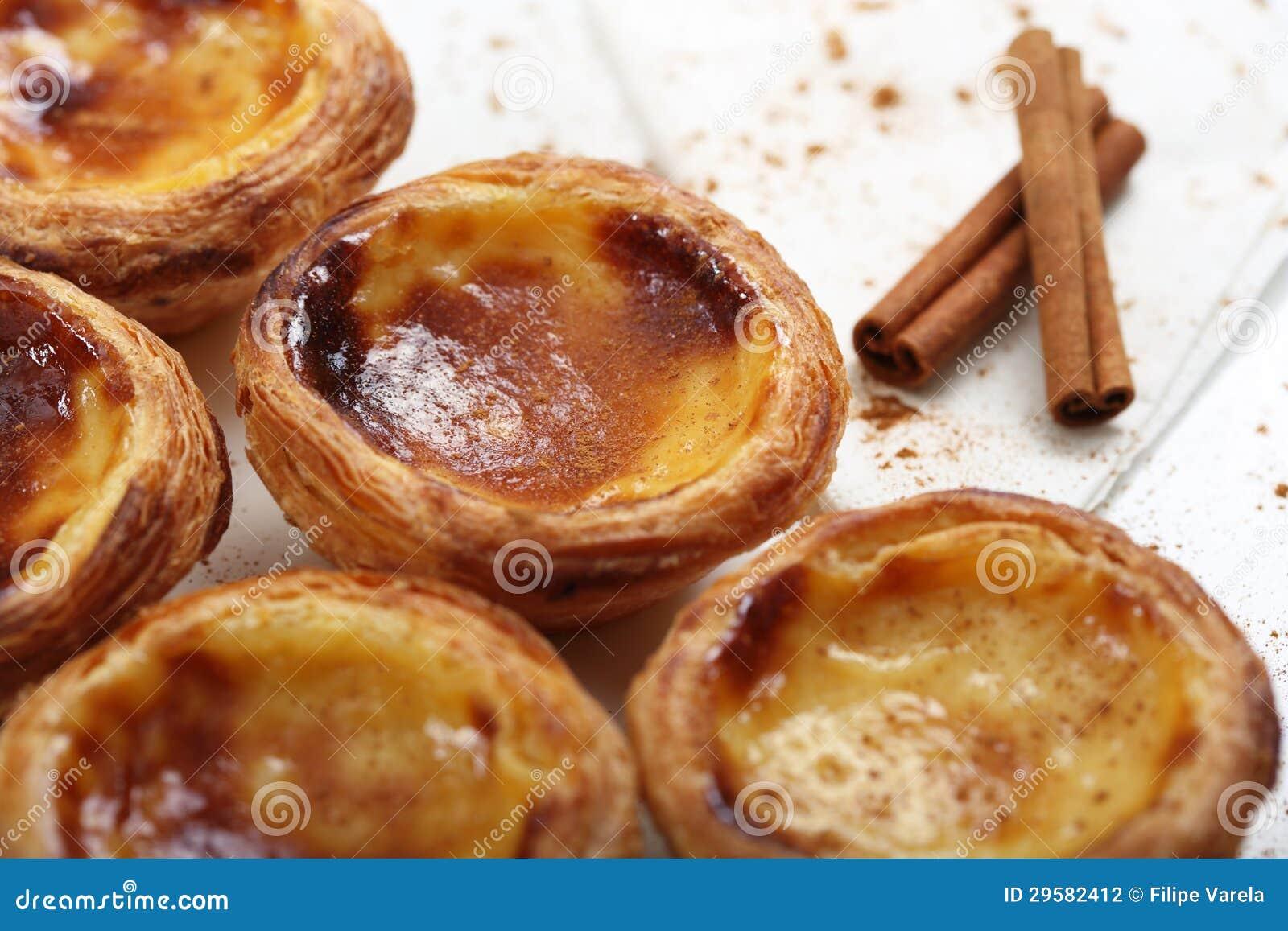 Traditionelle Portugiesische Kuchen Sahnekuchen Stockfoto Bild