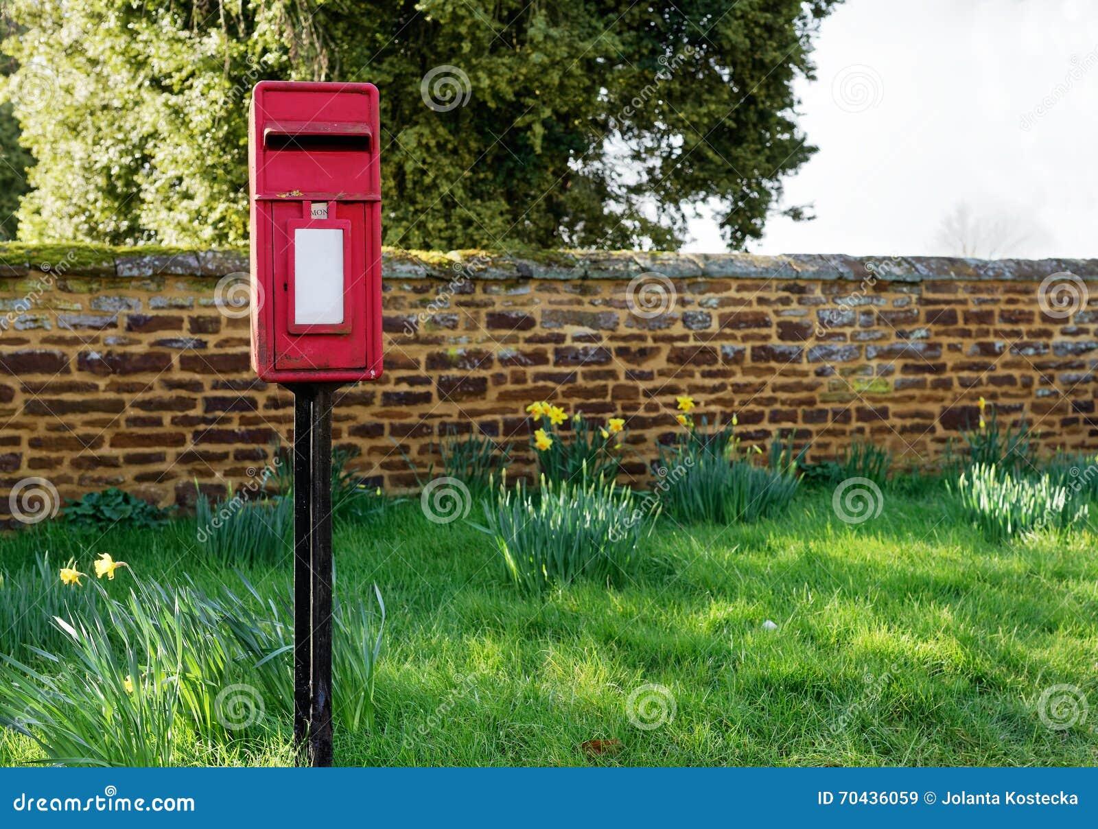 Traditioneller Englischer Briefkasten Stockbild Bild Von Post