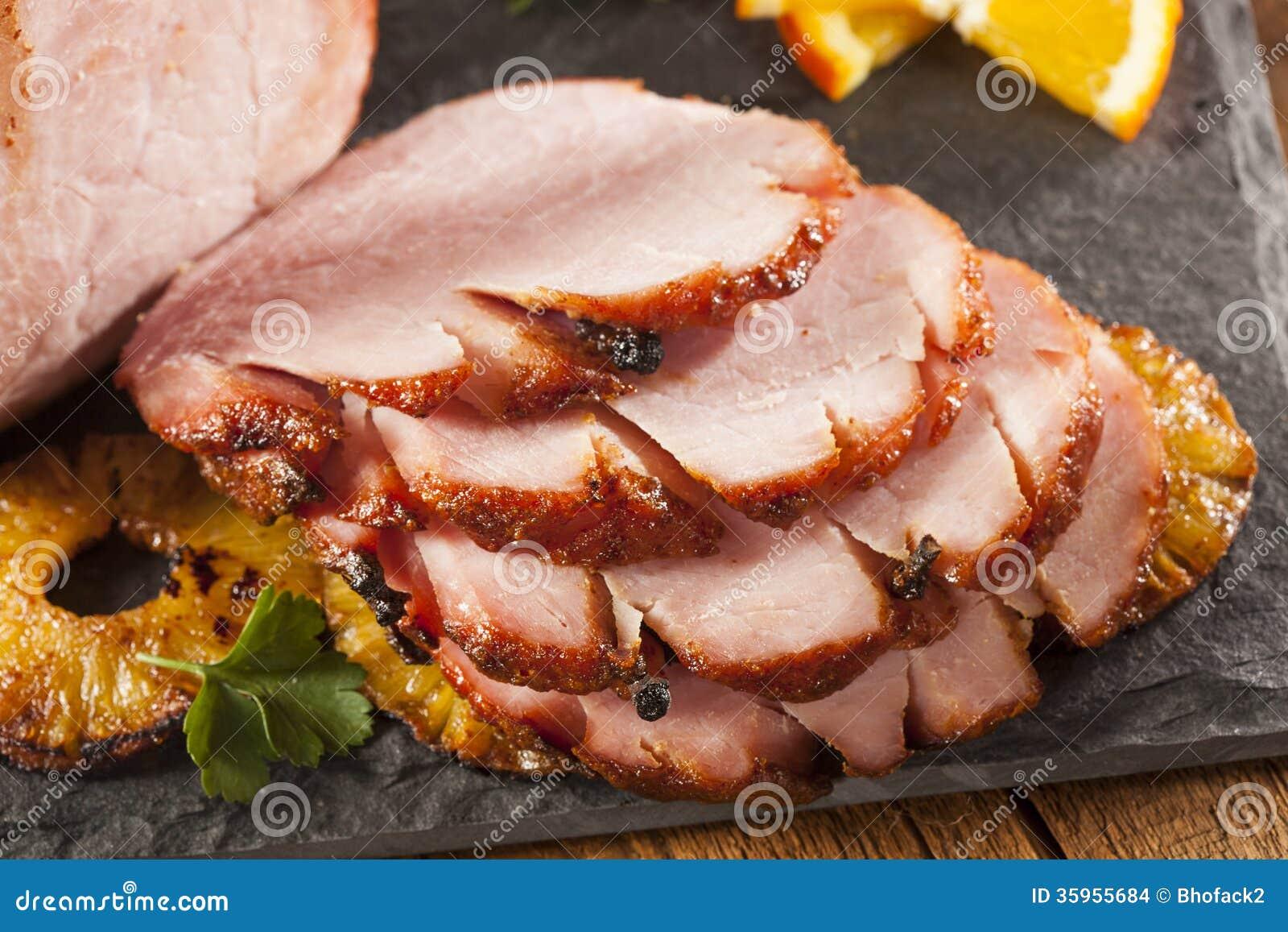 Traditioneller geschnittener Honey Glazed Ham