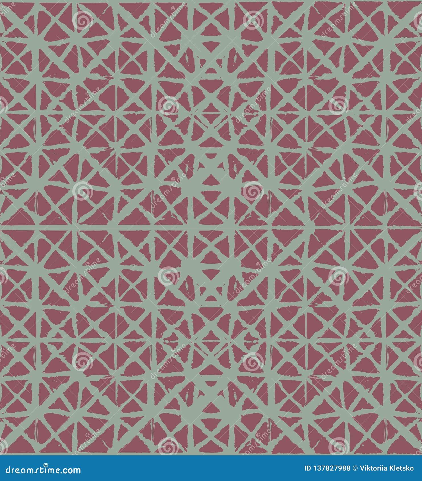 Traditioneller Japan-Bindungs-Färbungs-Verzierungs-organischer Kimono-Vektor-nahtloses Muster Aquarell-Batik-Beschaffenheit Geome