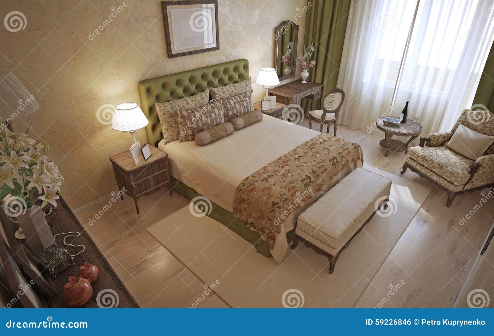 Traditionelles Englisches Schlafzimmer Stock Abbildung ...
