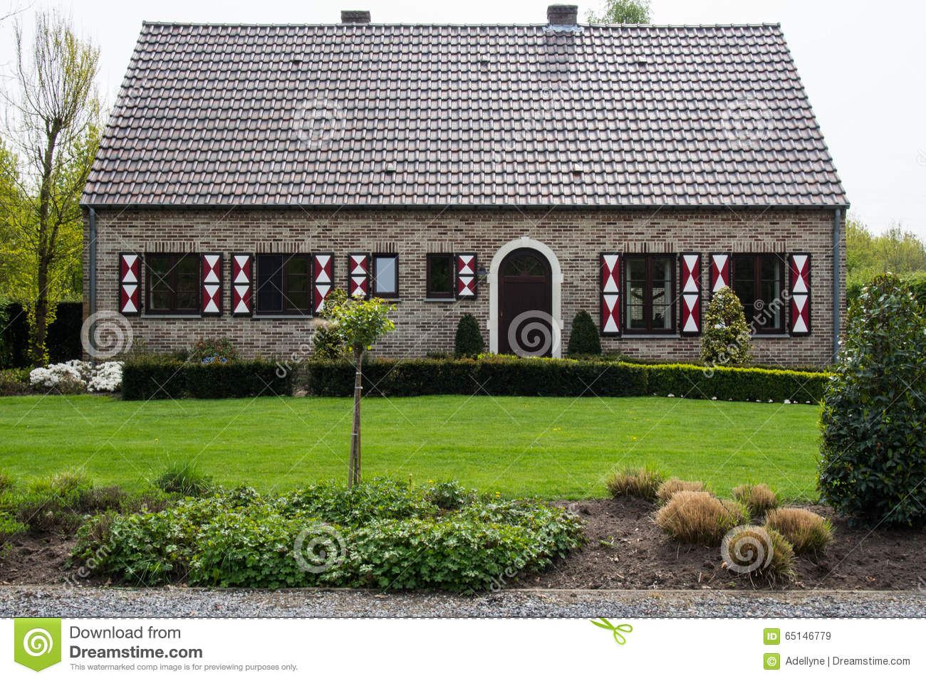 Traditionelles haus in limburg belgien stockfoto bild for Traditionelles thai haus