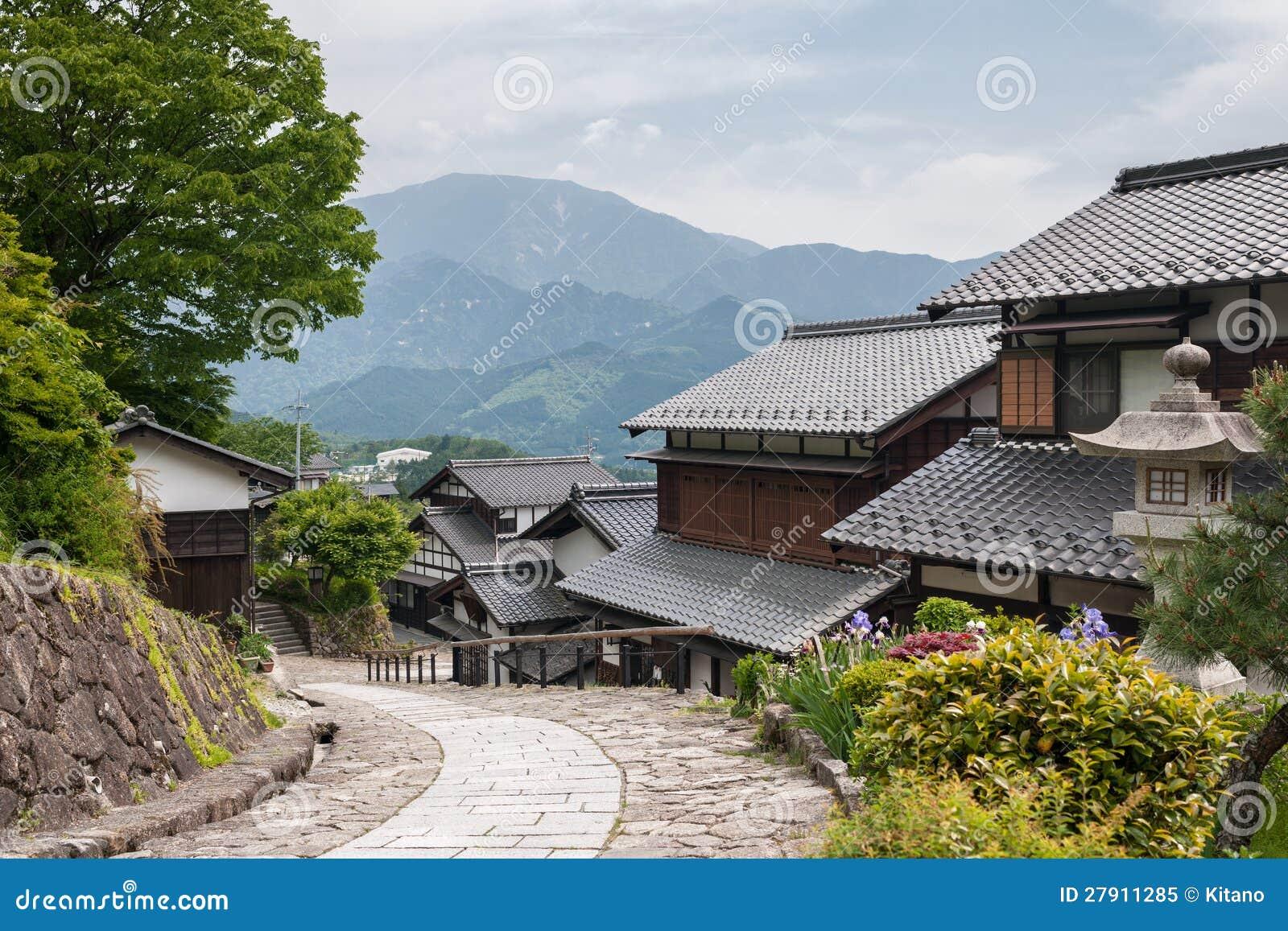 Traditionelles japanisches dorf lizenzfreies stockfoto for Traditionelles japanisches hotel