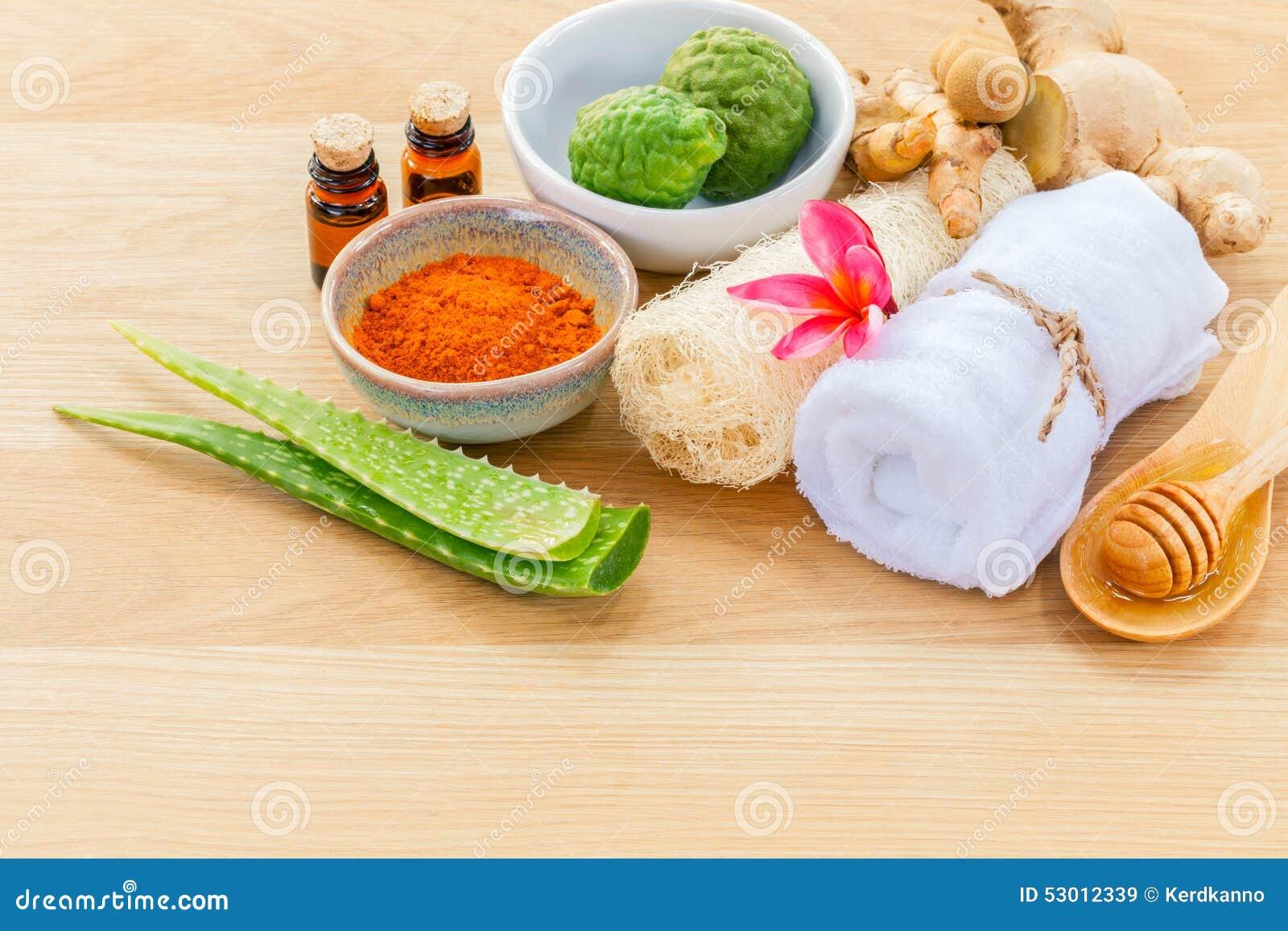 Traditionellt av thai ingredienser för hudomsorg