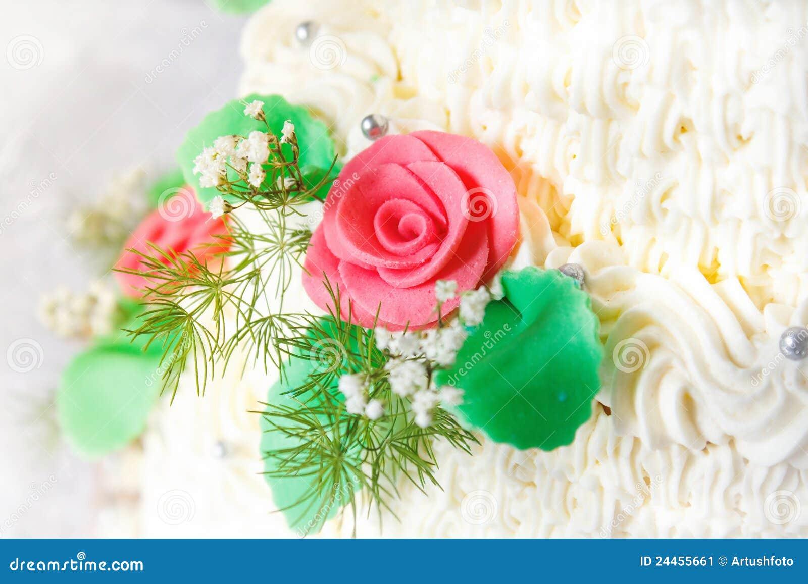 Traditionellt bröllop för cakedetalj