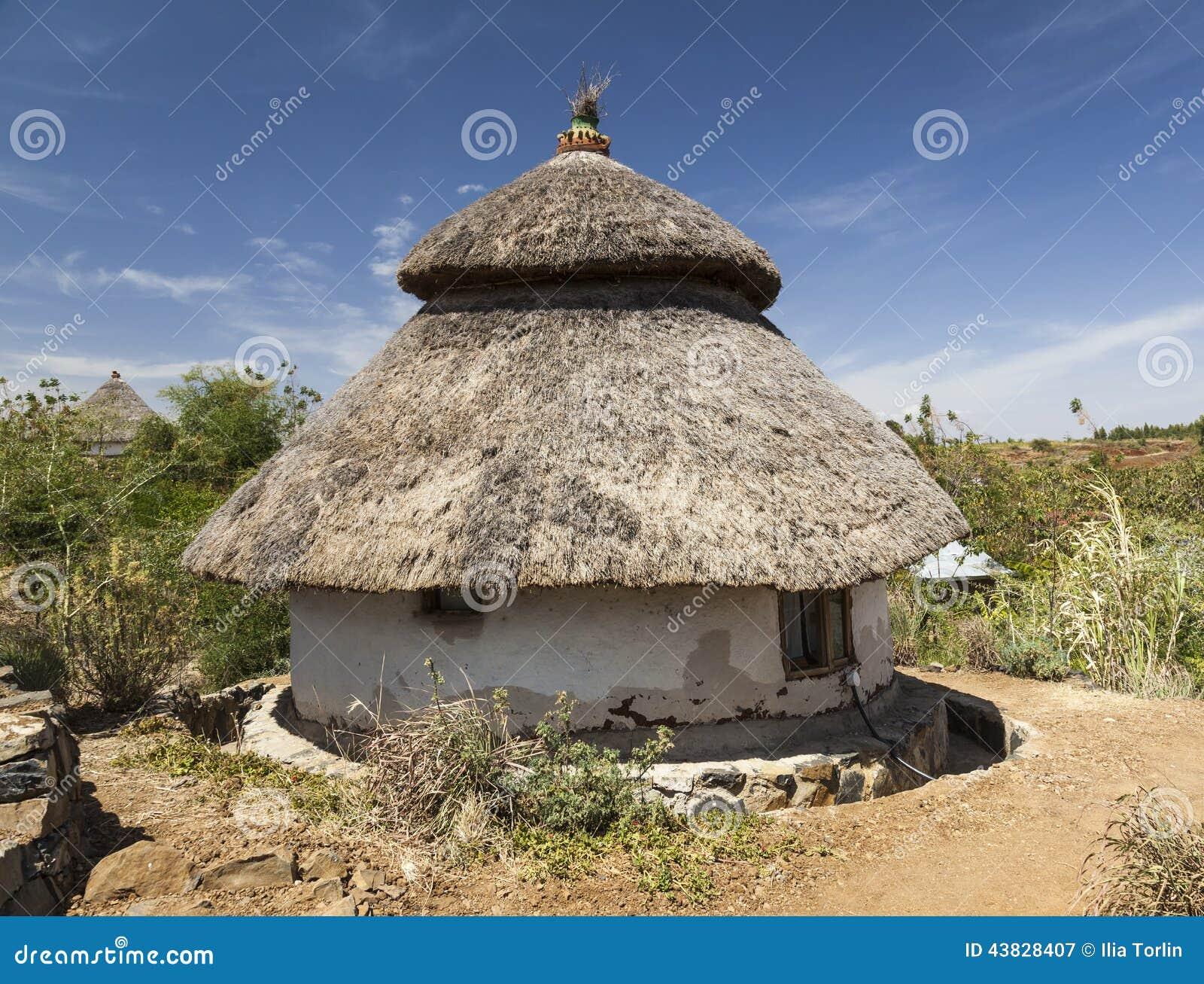 Traditionellt etiopiskt hus Karat Konso ethiopia