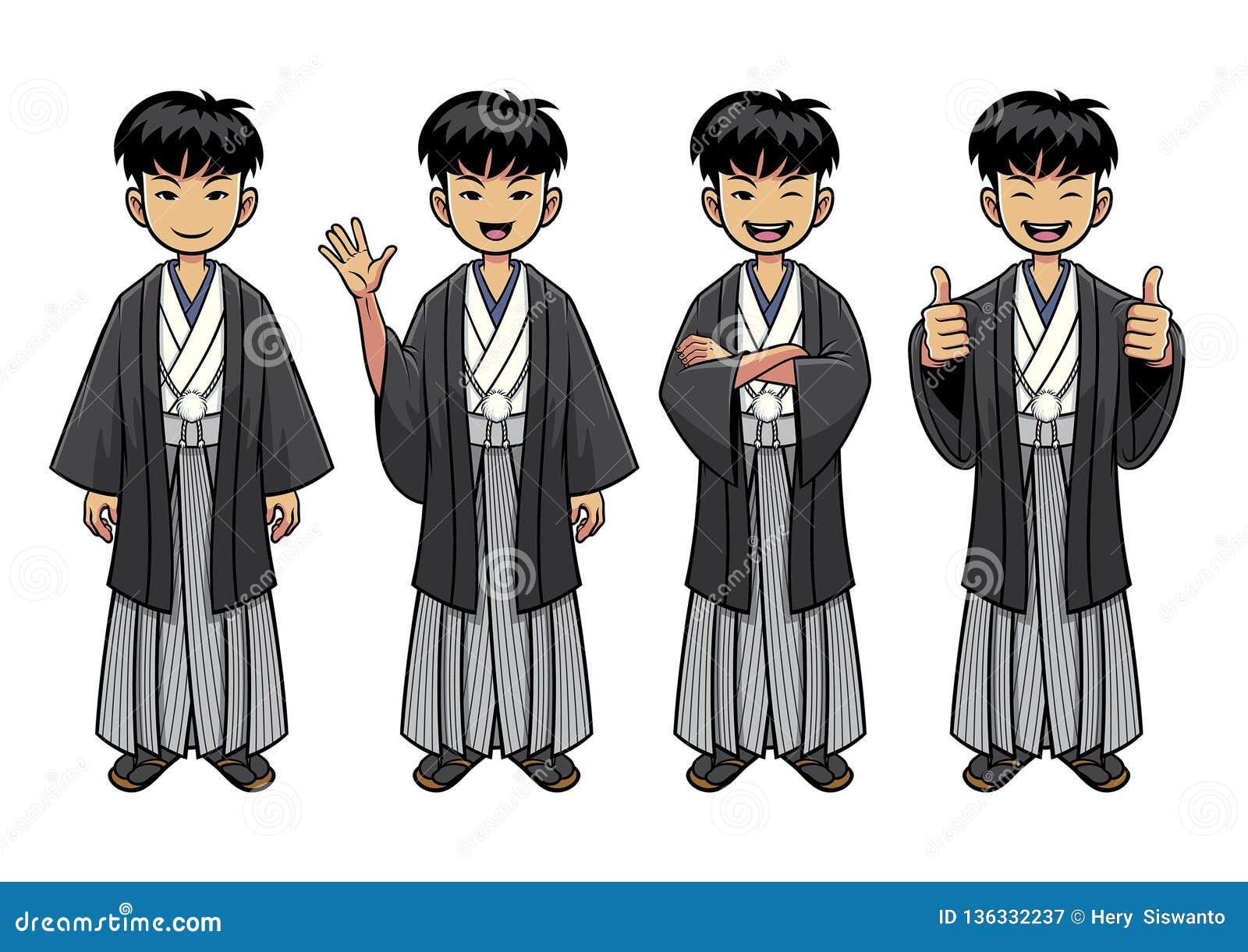 Traditionellt Japan mantecken - uppsättning