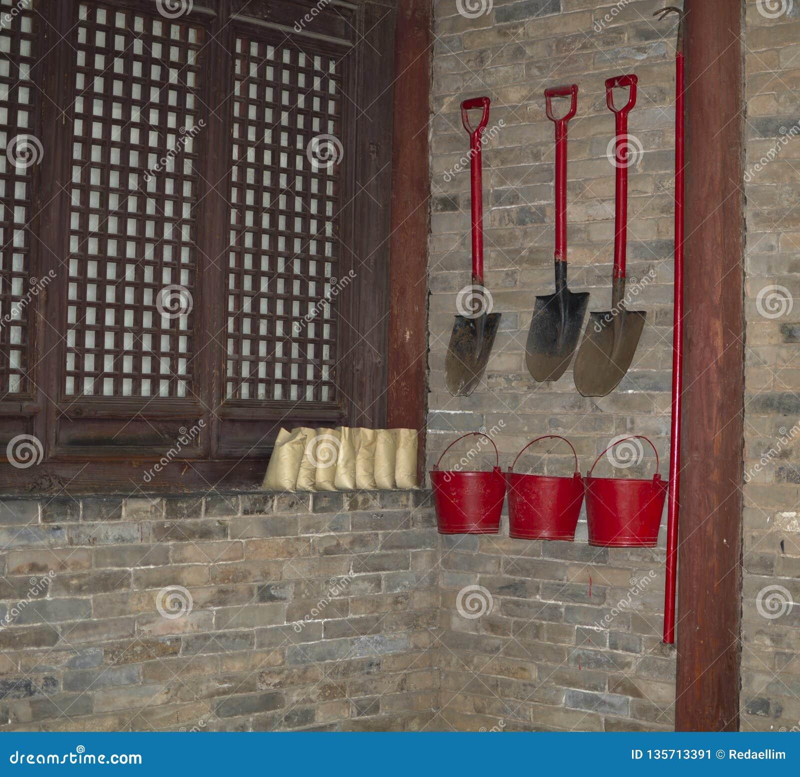 Traditionellt system för brandförhindrande
