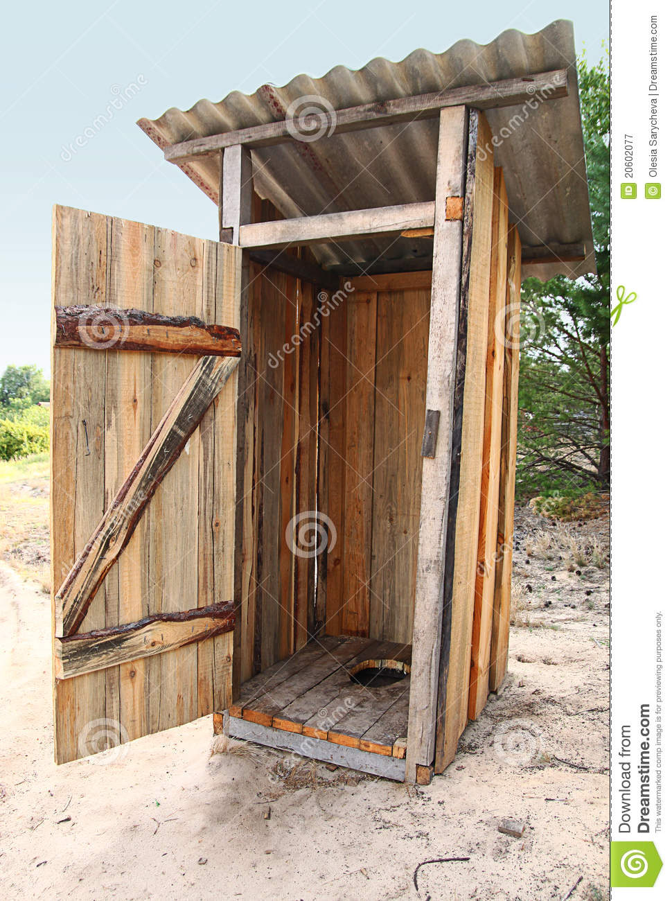 Tradtional Wooden Outside Toilet Royalty Free Stock