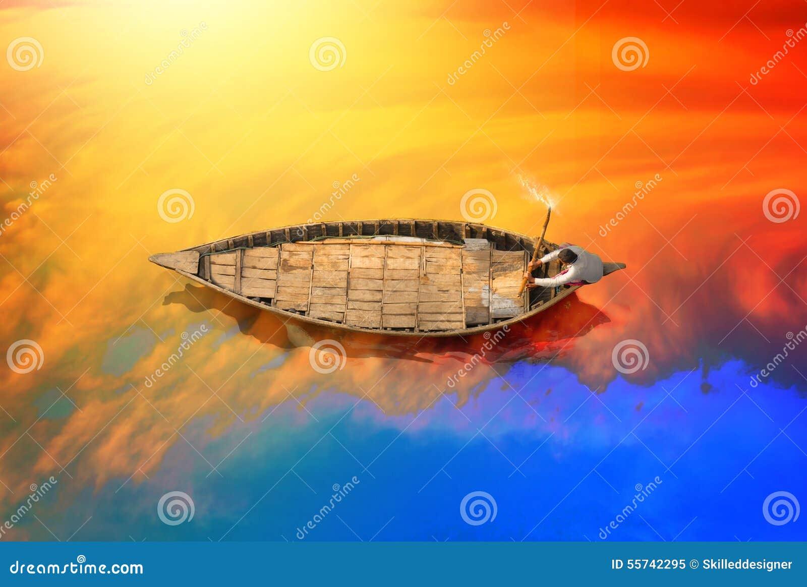 Tradycyjna łódź w Bangladesz