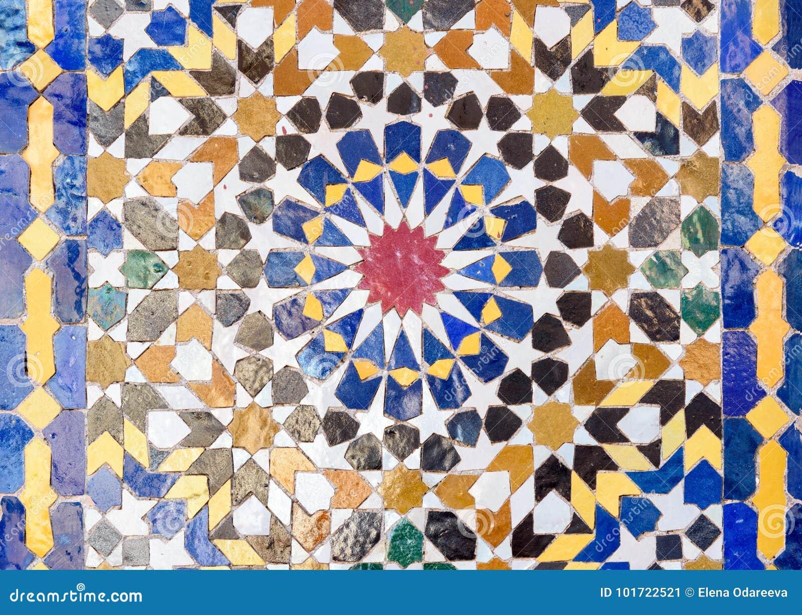 Tradycyjna mozaika w Marrakesh, Maroko