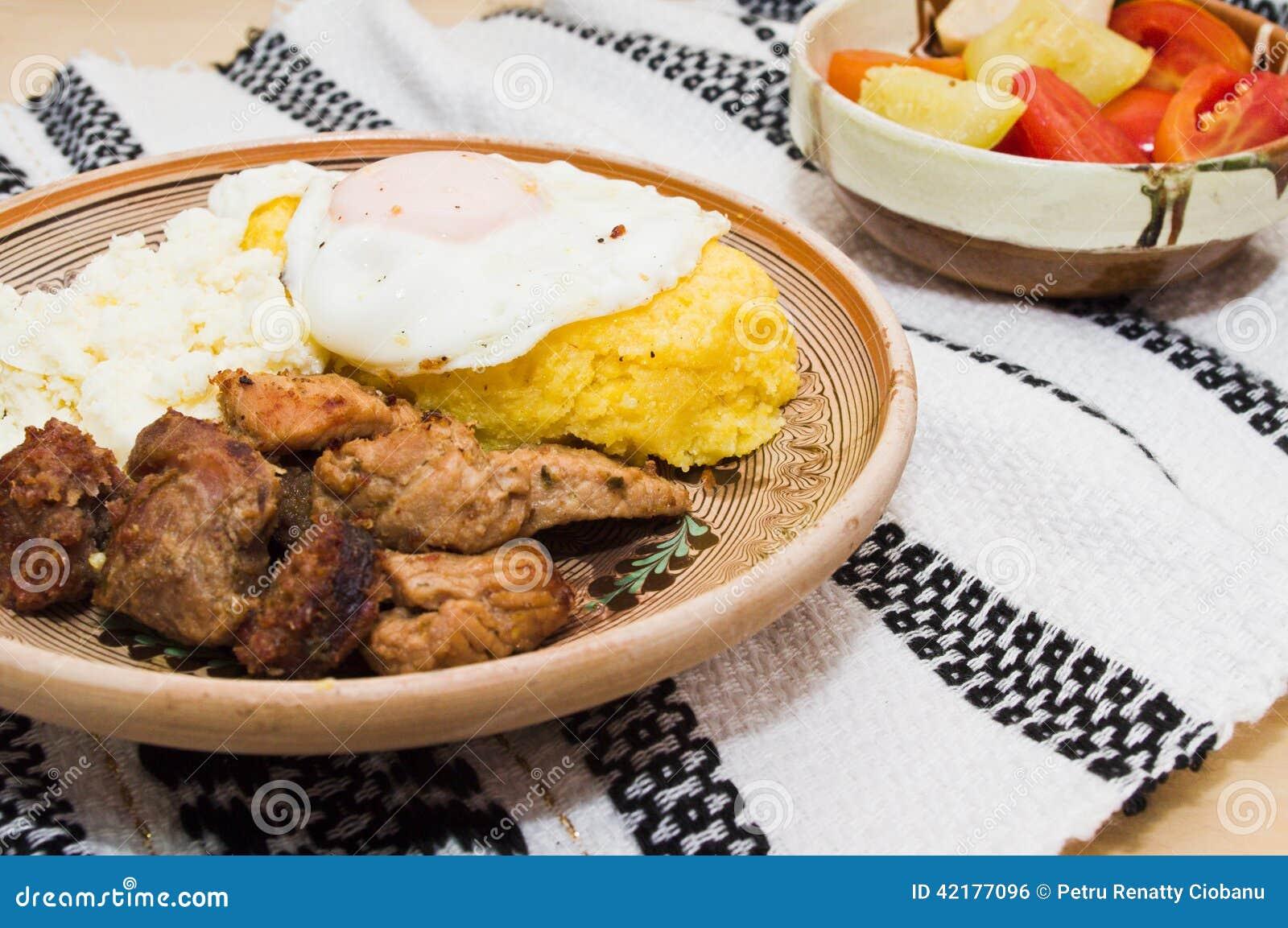 Tradycyjna Rumunska Kuchnia Tochitura Zdjecie Stock Obraz