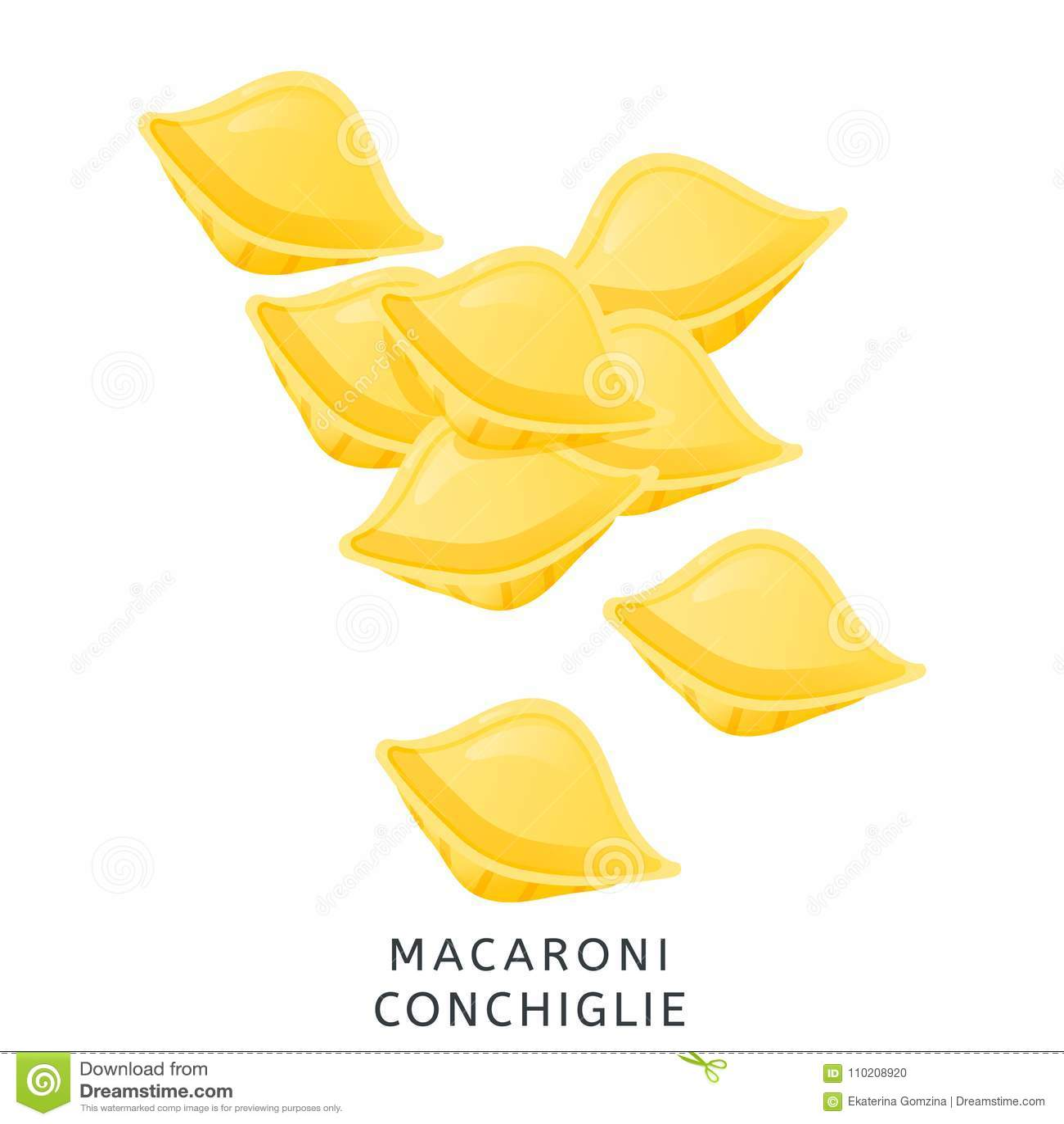 Tradycyjna Wloska Kuchnia Conchiglie Makaron Maki Banatki Produkt